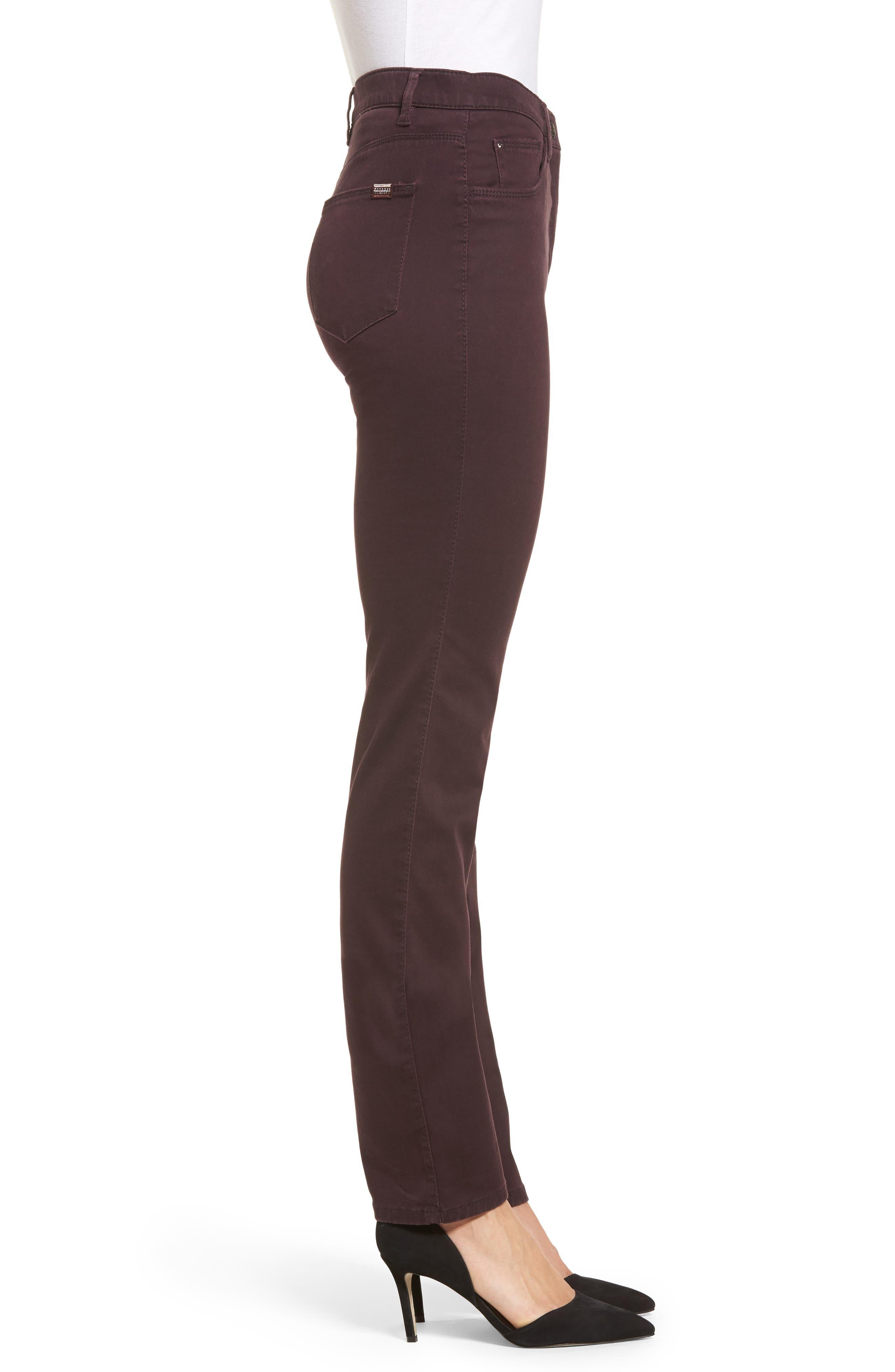 Straight Leg Pants,                             Alternate thumbnail 3, color,                             Amarone