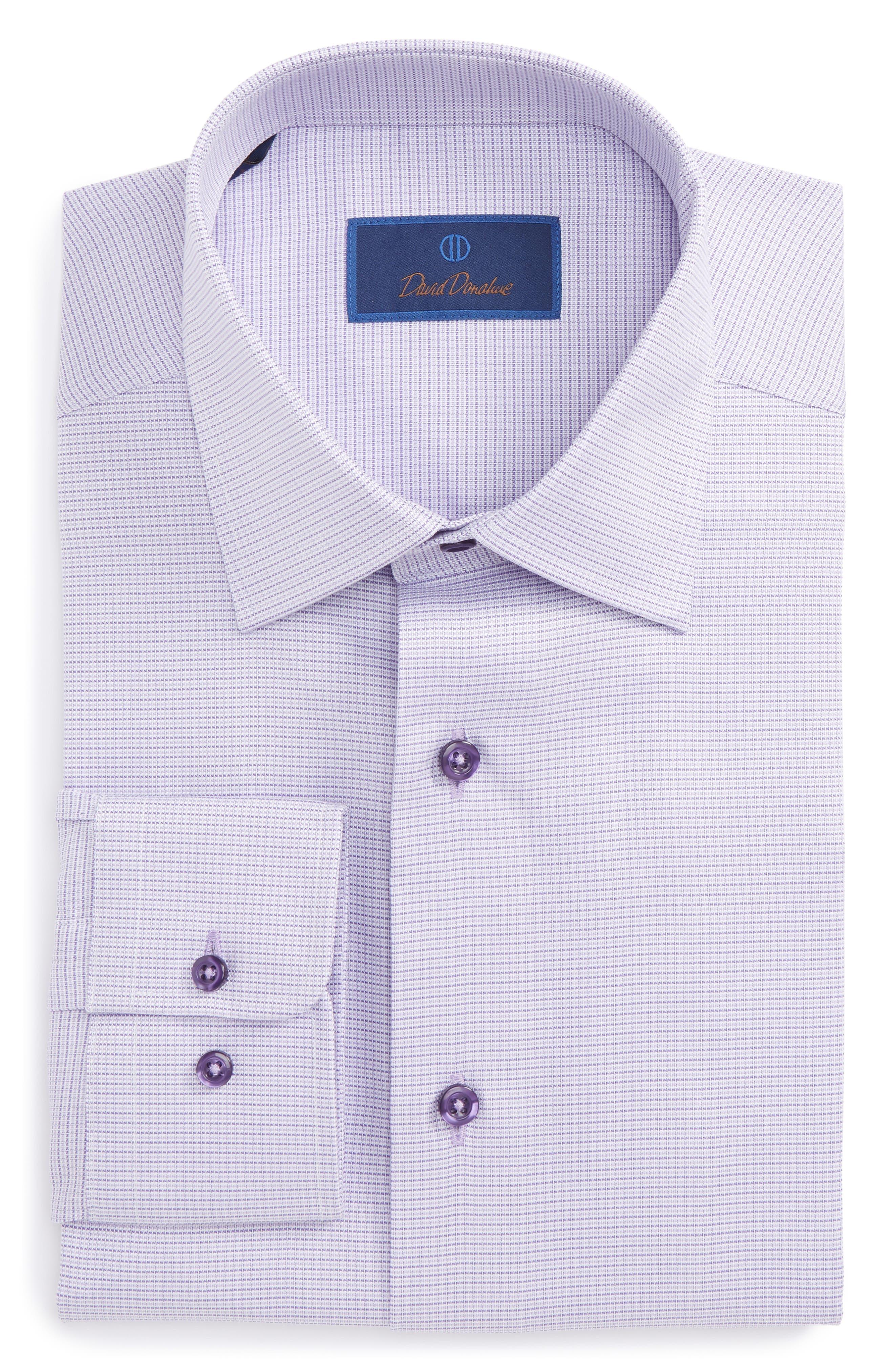 Regular Fit Solid Dress Shirt,                         Main,                         color, Lilac