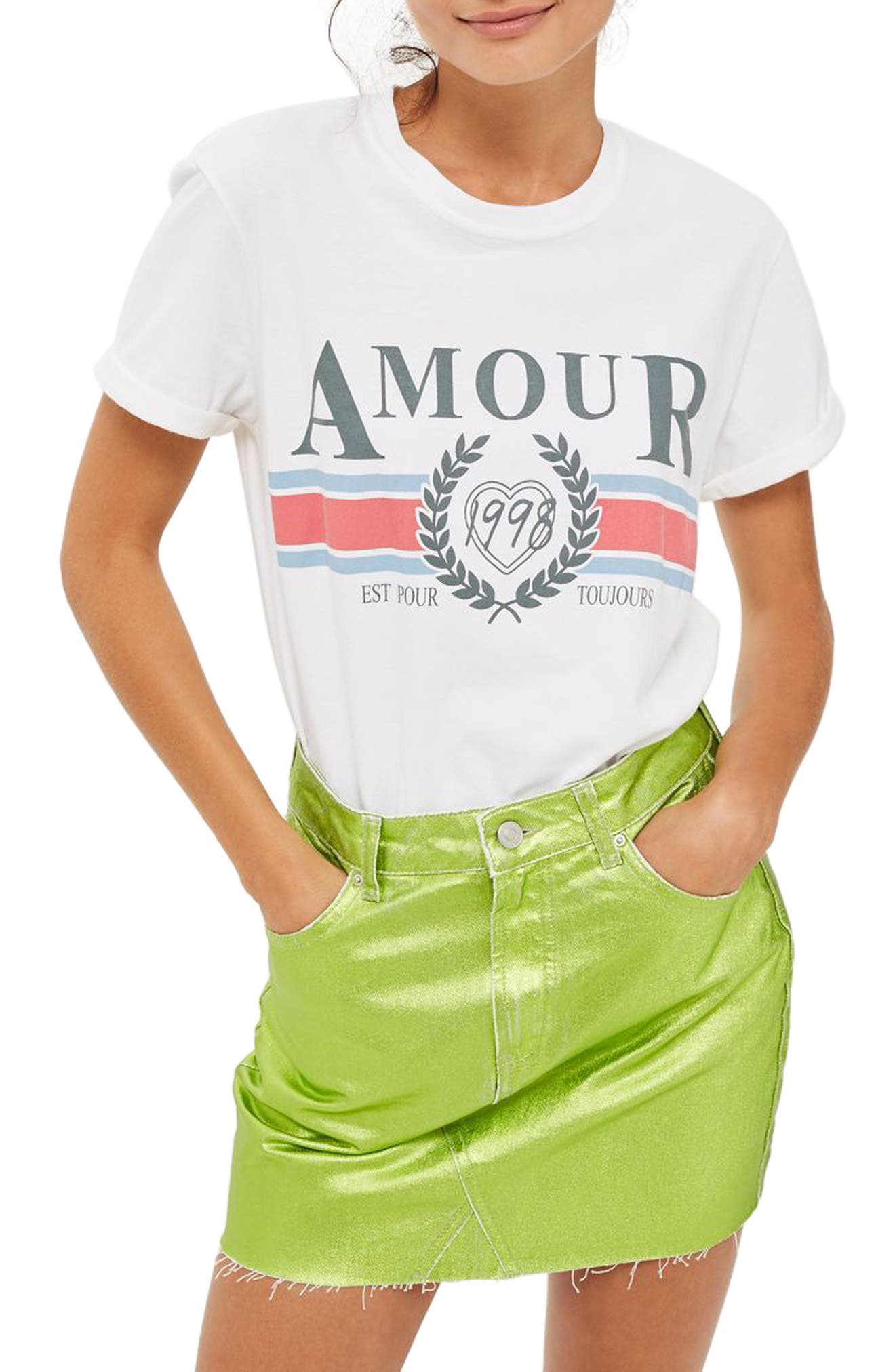 Alternate Image 1 Selected - Topshop Amour Graphic Tee