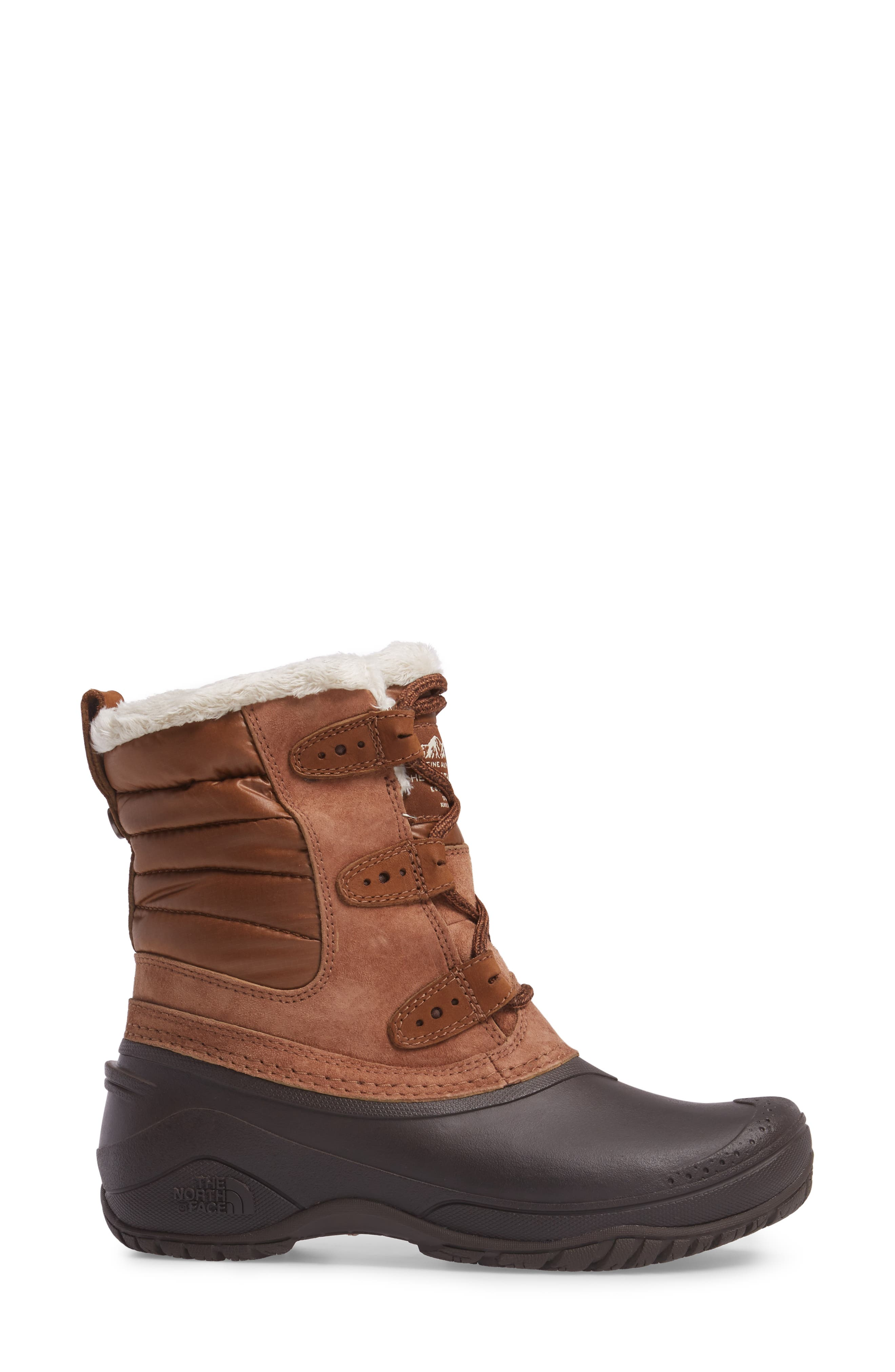 Shellista II Waterproof Boot,                             Alternate thumbnail 3, color,                             Dachshund Brown/ Vintage White