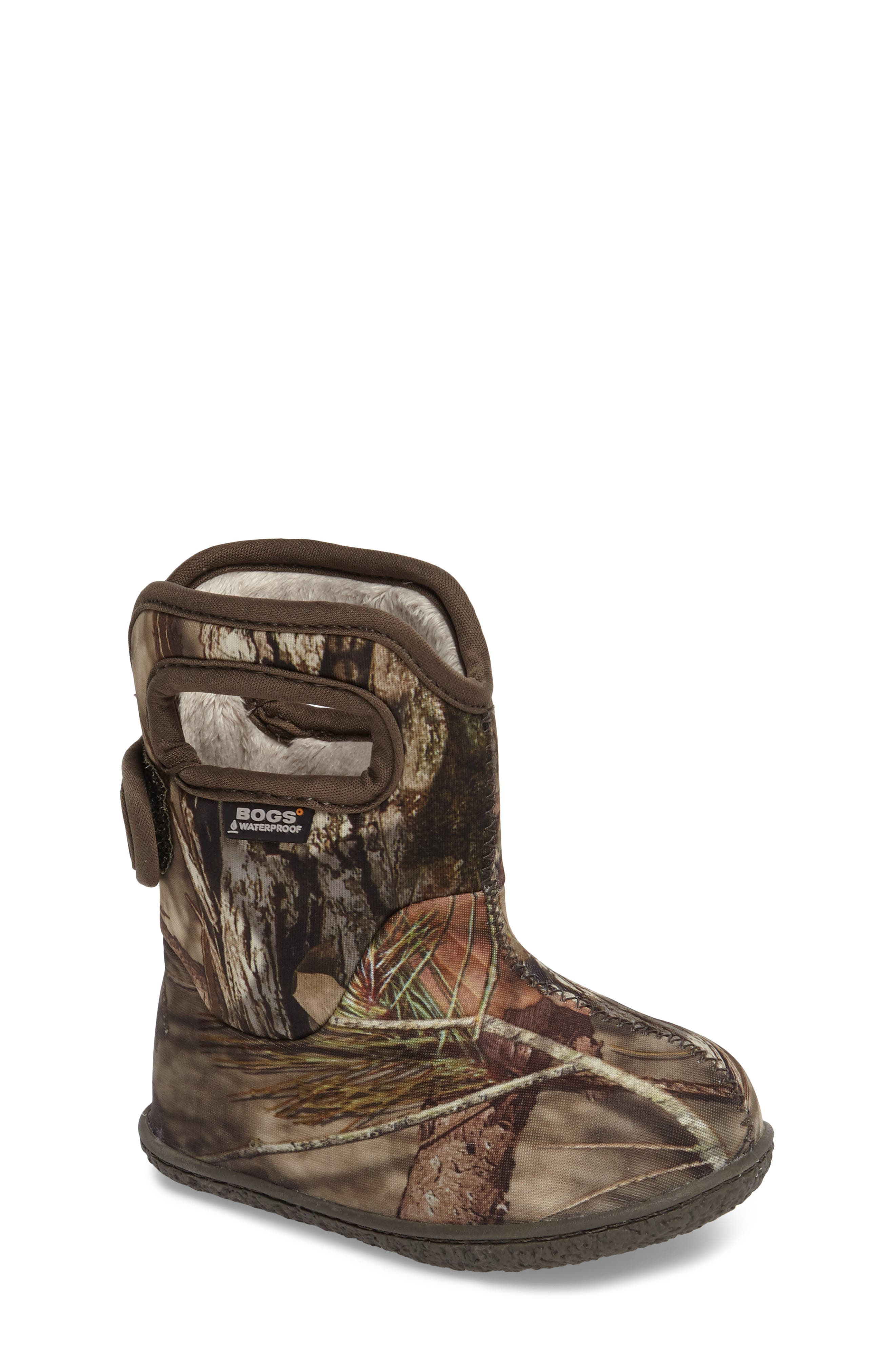 Baby Bogs Classic Camo Insulated Waterproof Boot,                             Main thumbnail 1, color,                             Mossy Oak Country