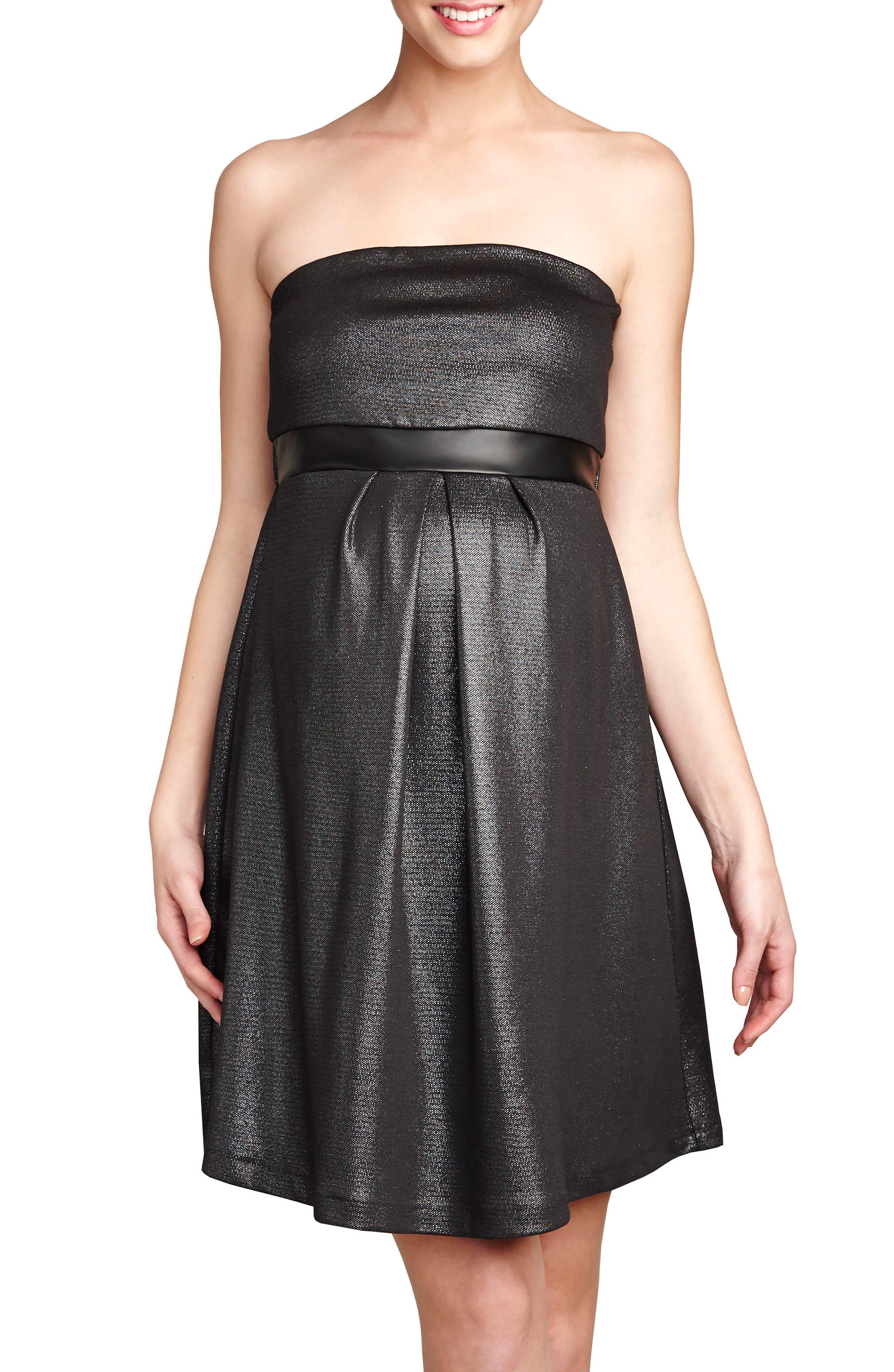 Strapless Dress,                         Main,                         color, Lurex