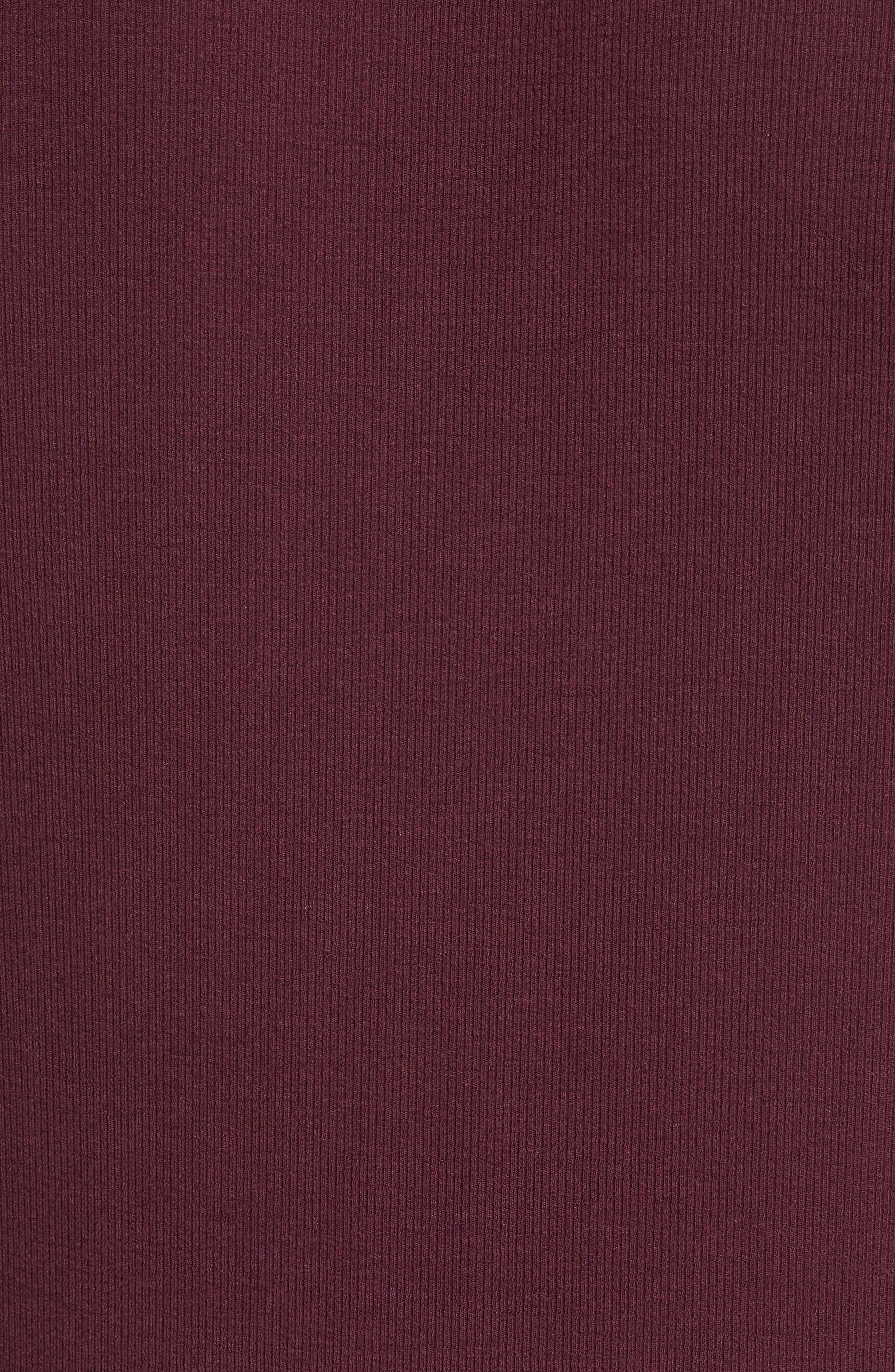 Rib Modal Crewneck Sweater,                             Alternate thumbnail 5, color,                             Merlot