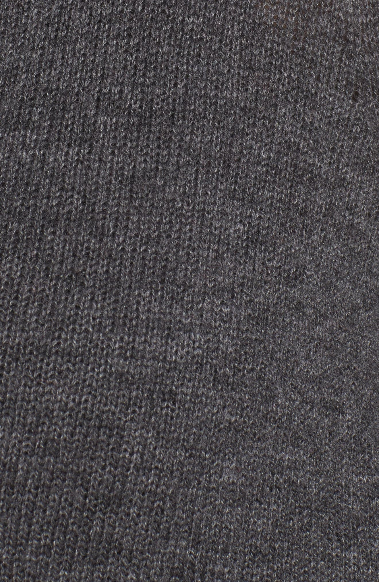 Pocket Cardigan,                             Alternate thumbnail 5, color,                             Grey Charcoal Heather