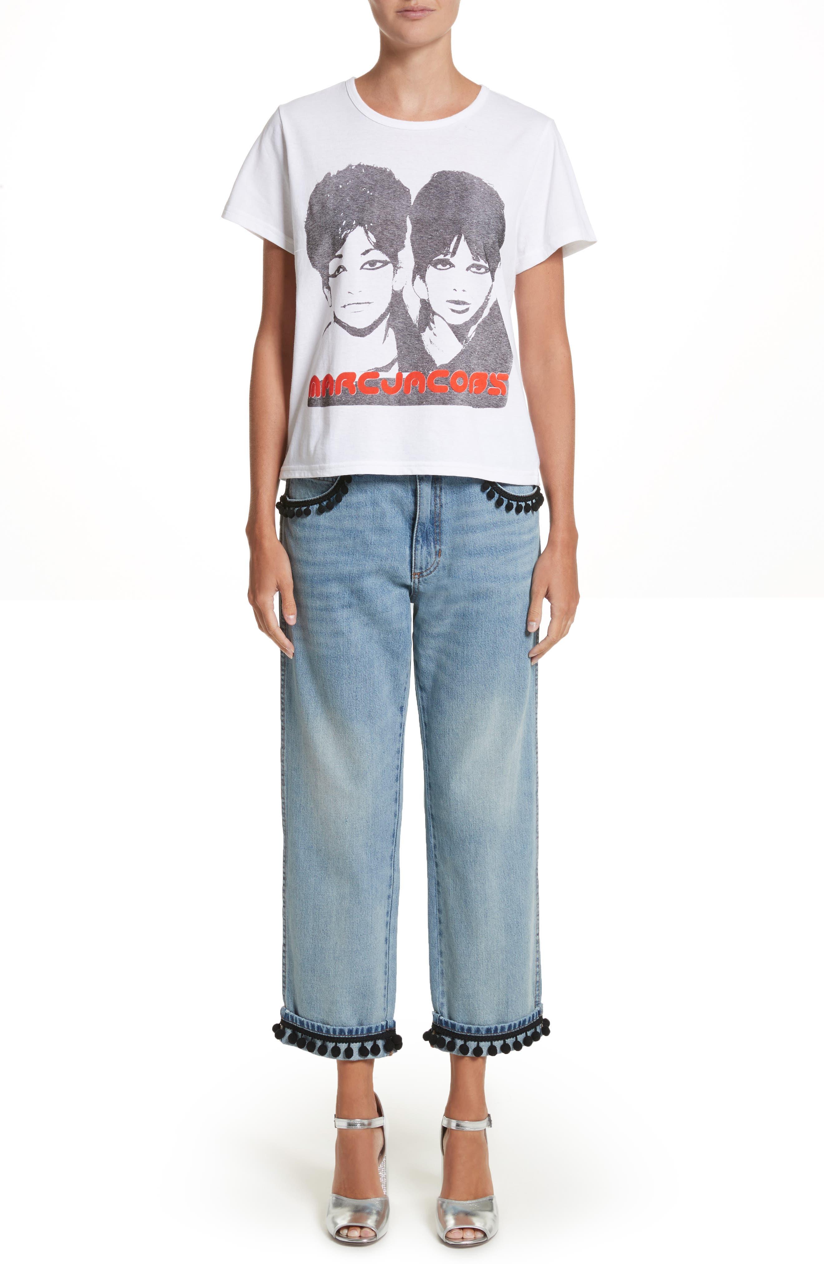 Alternate Image 7  - MARC JACOBS Pom Trim Crop Jeans