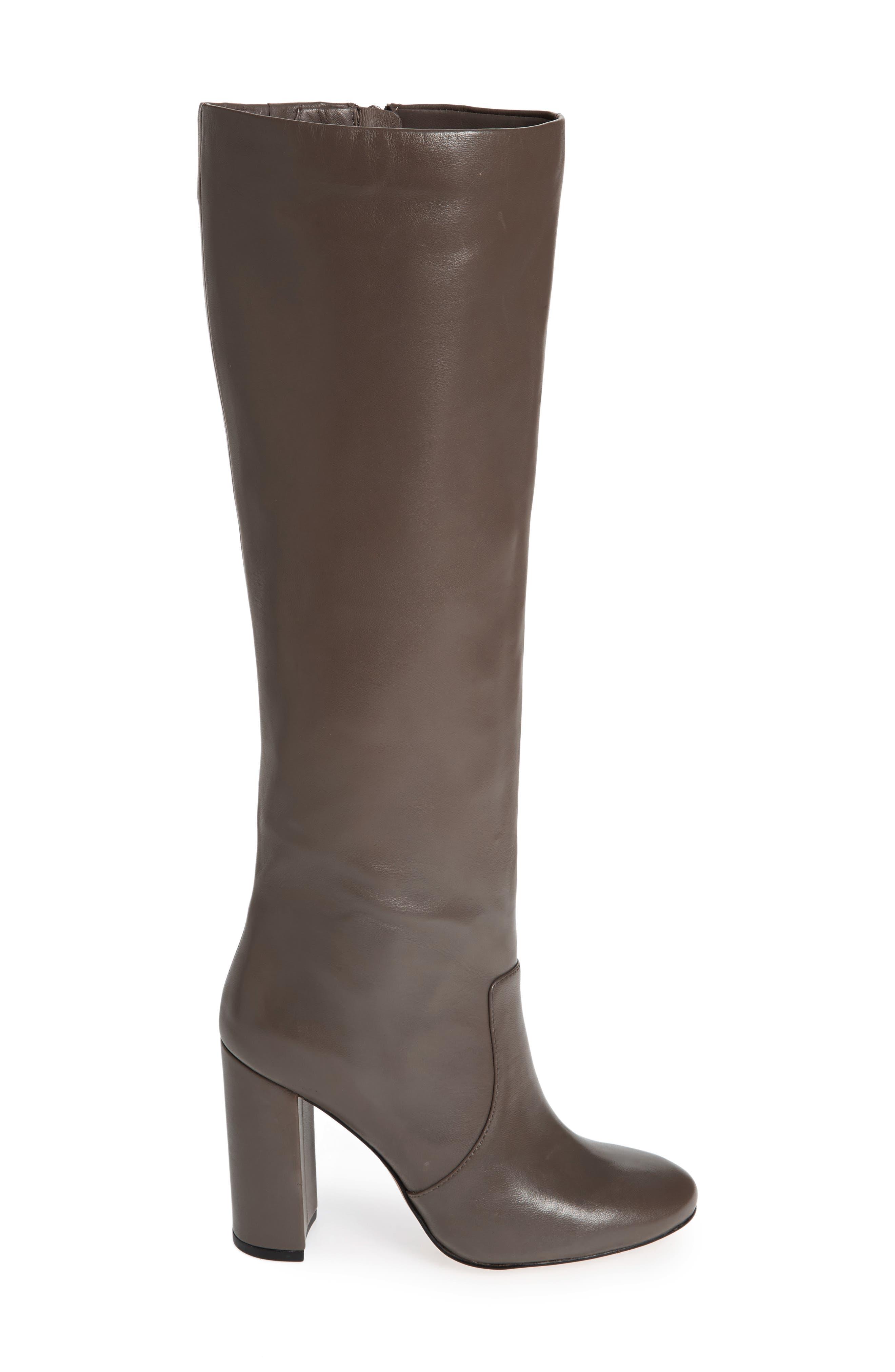 Roslin Knee High Boot,                             Alternate thumbnail 2, color,                             Graphite Leather