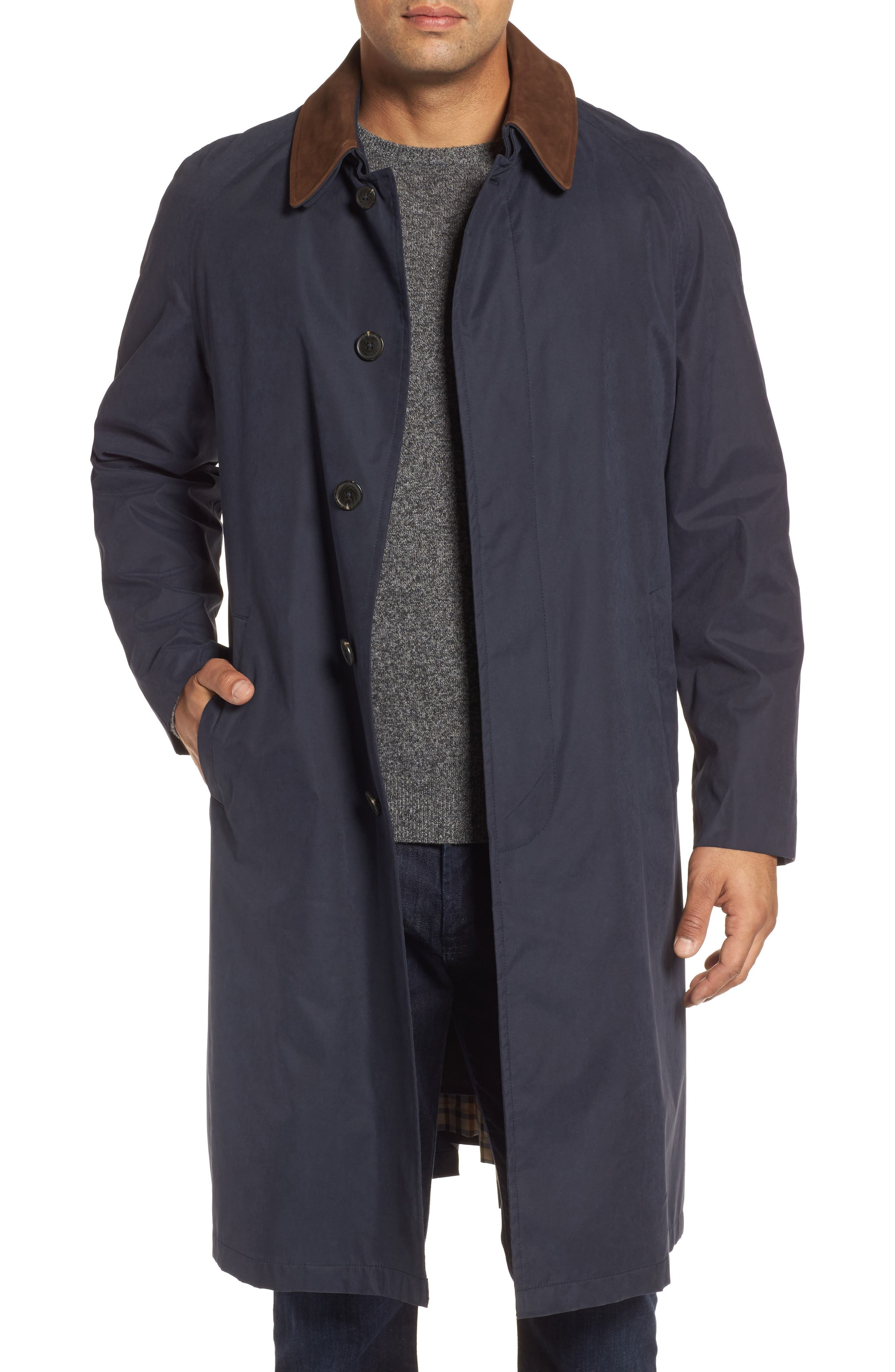 Lawrence Classic Fit Rain Coat,                         Main,                         color, Navy