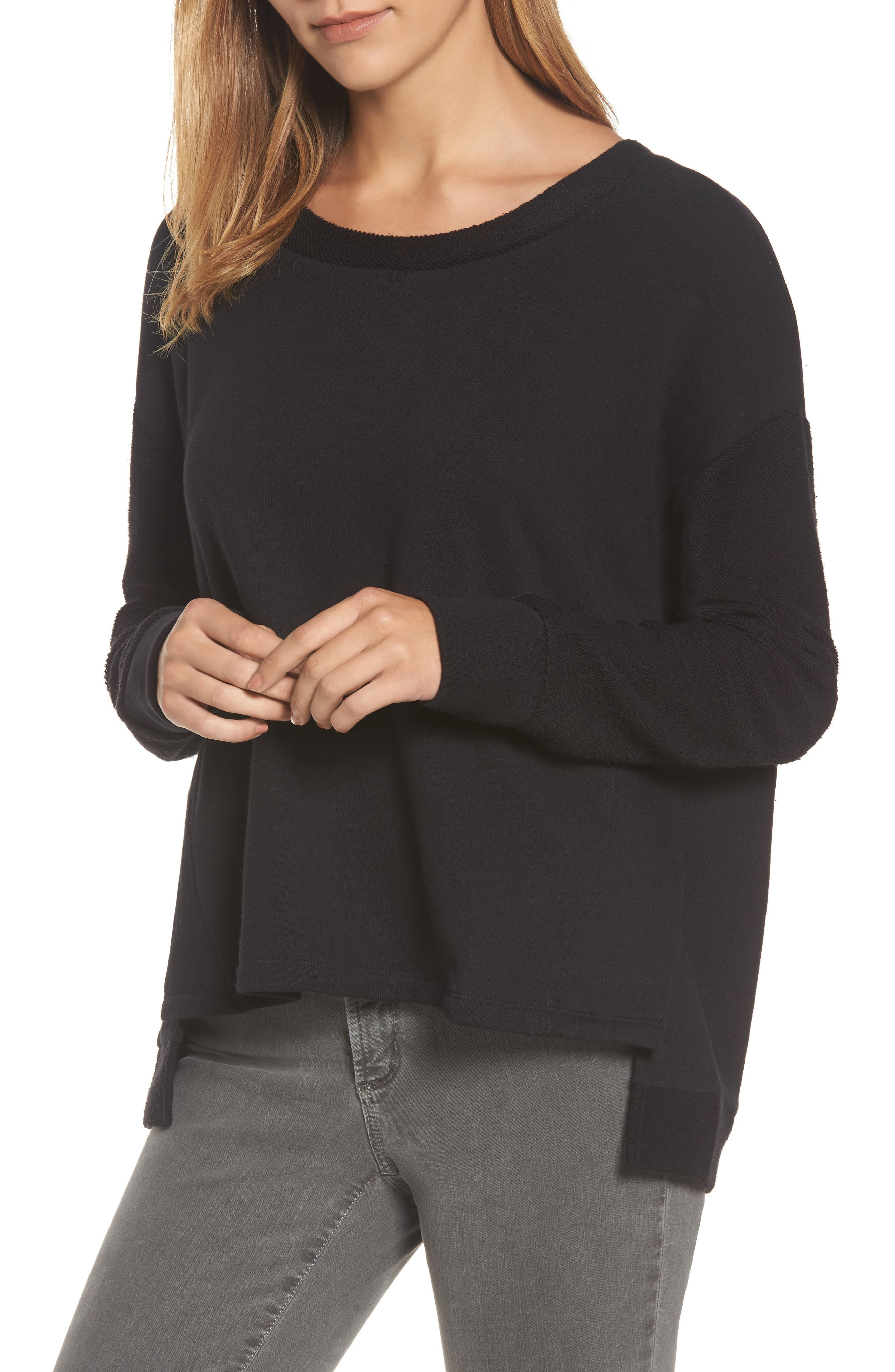 Caslon® Relaxed Sweatshirt (Regular & Petite)