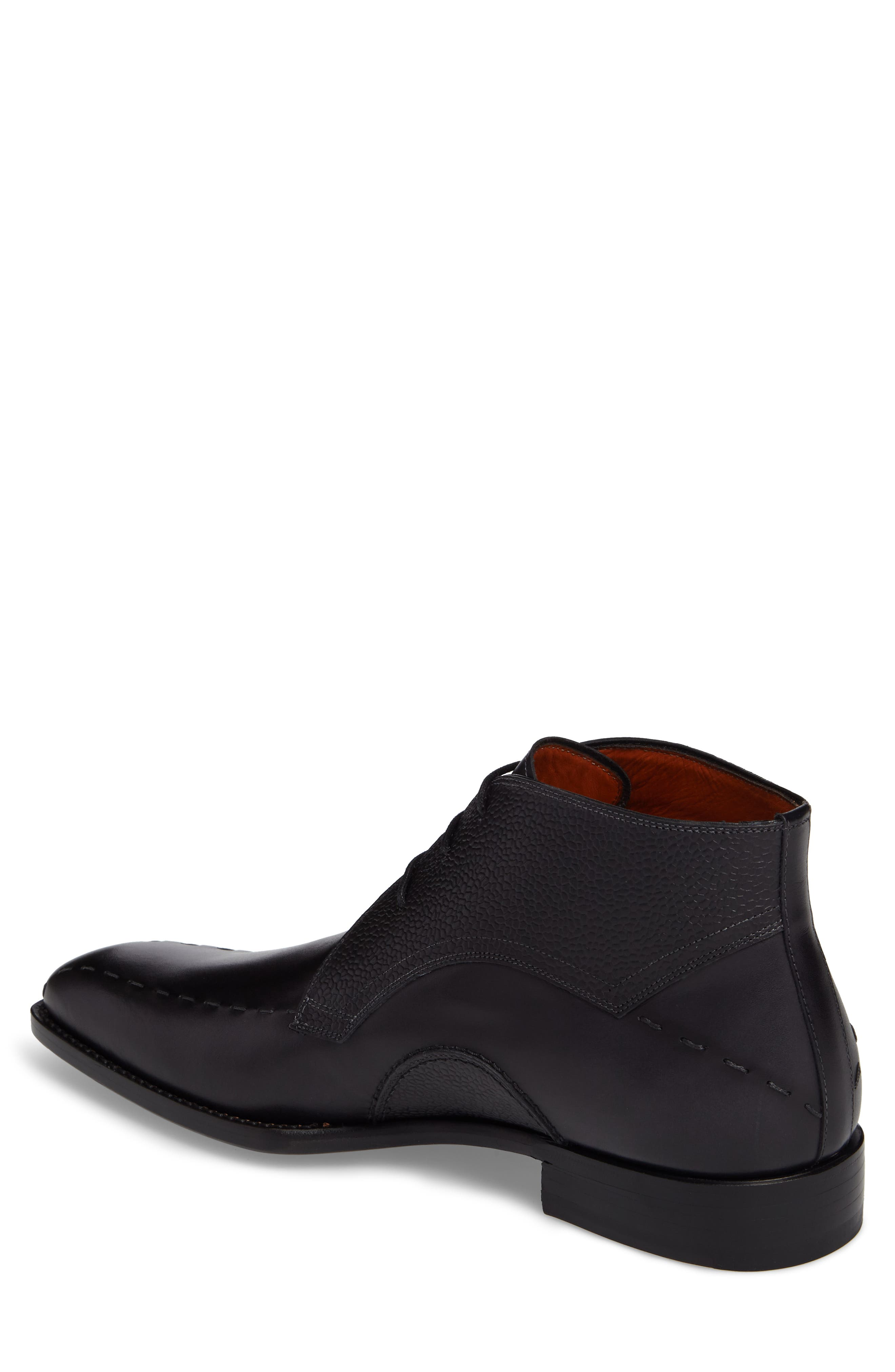Moriles Chukka Boot,                             Alternate thumbnail 2, color,                             Black Leather