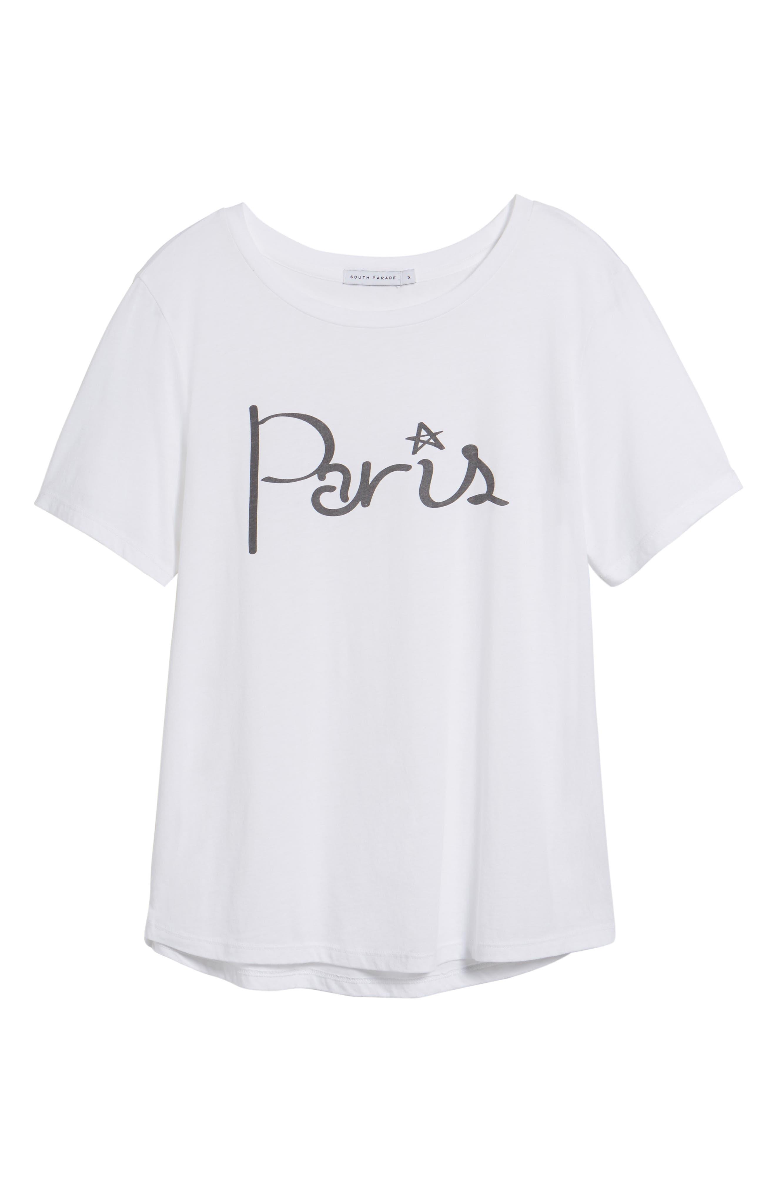 Paris Tee,                             Alternate thumbnail 6, color,                             White