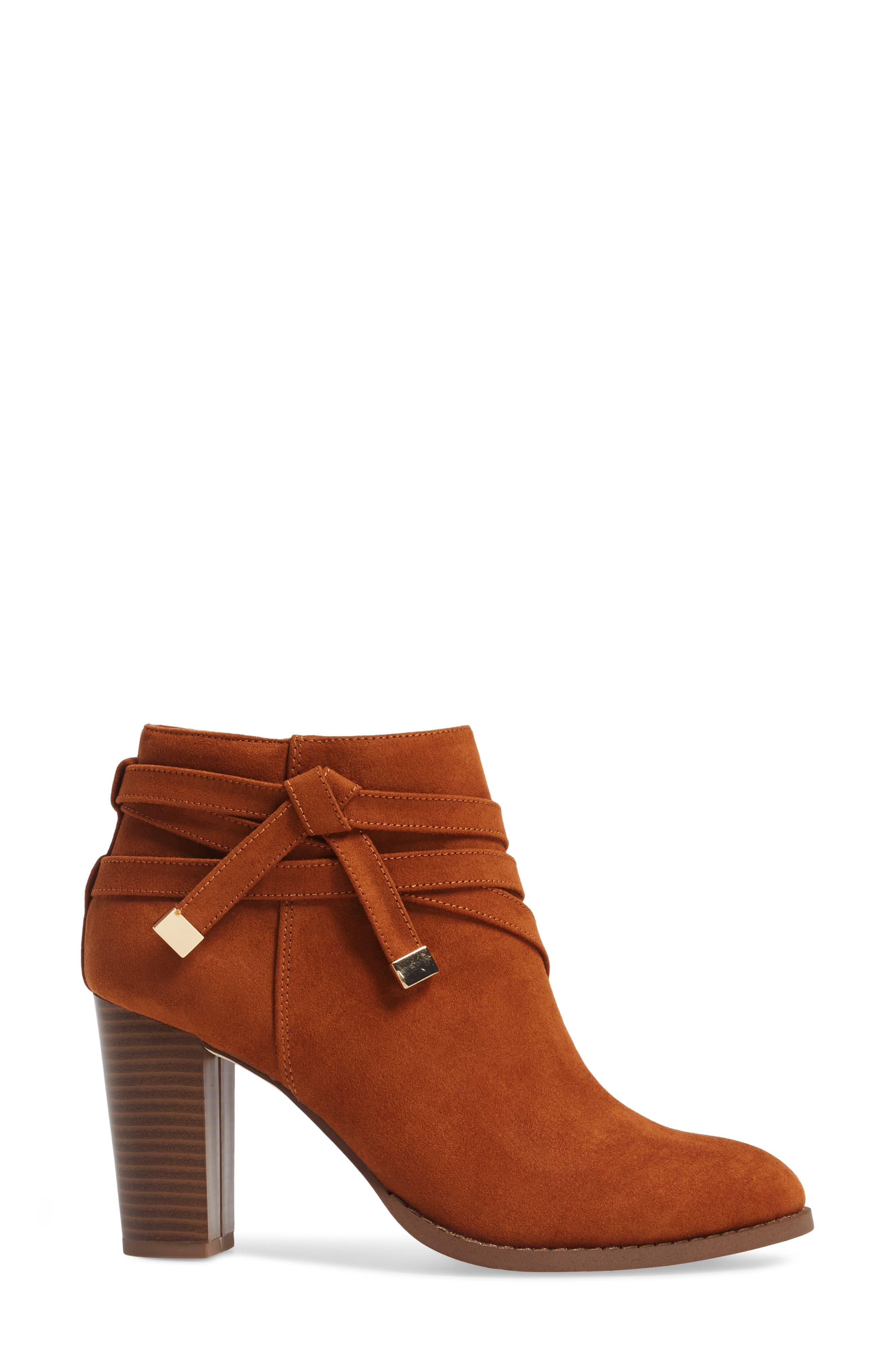 Renly Bootie,                             Alternate thumbnail 3, color,                             Tan Suede