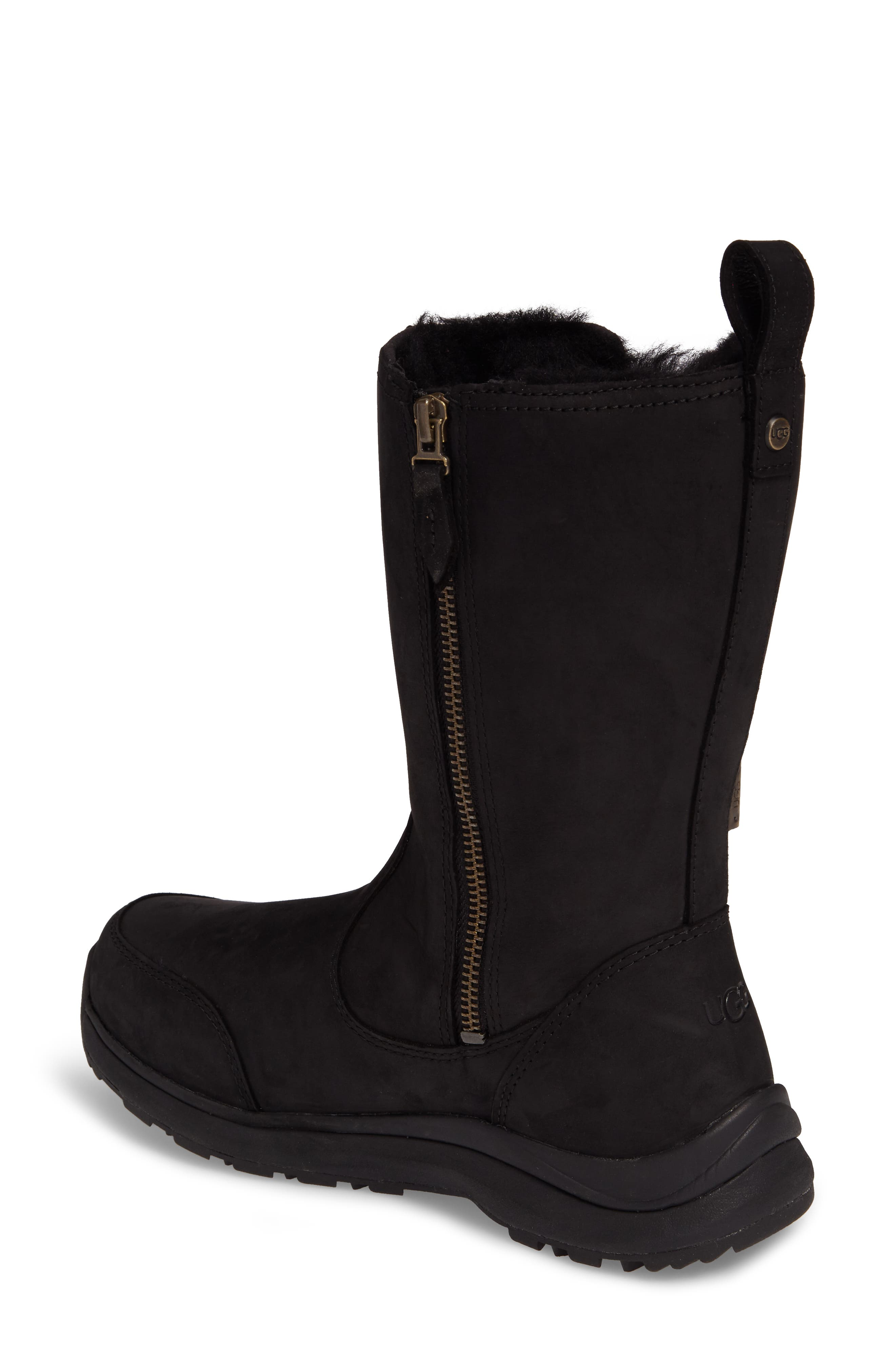 Suvi Waterproof Insulated Winter Boot,                             Alternate thumbnail 2, color,                             Black Leather