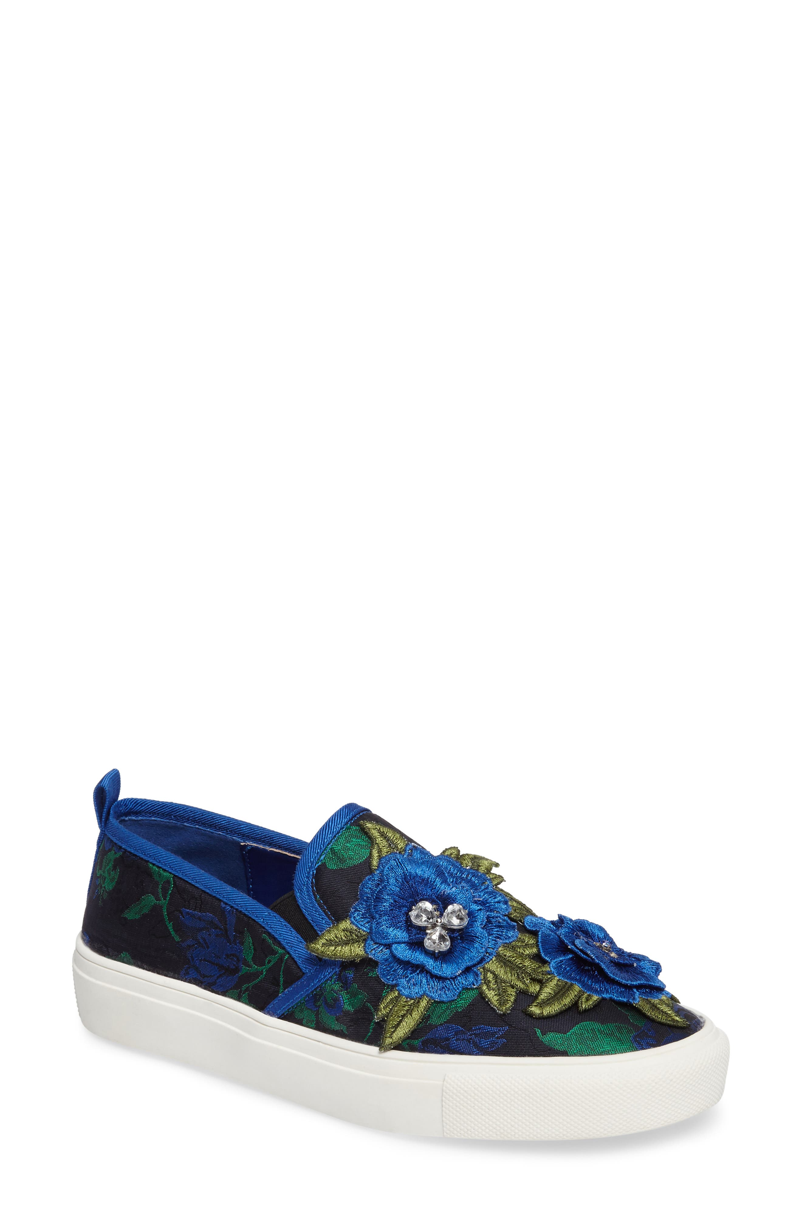 Main Image - Topshop Tessa Embroidered Slip-On Sneaker (Women)