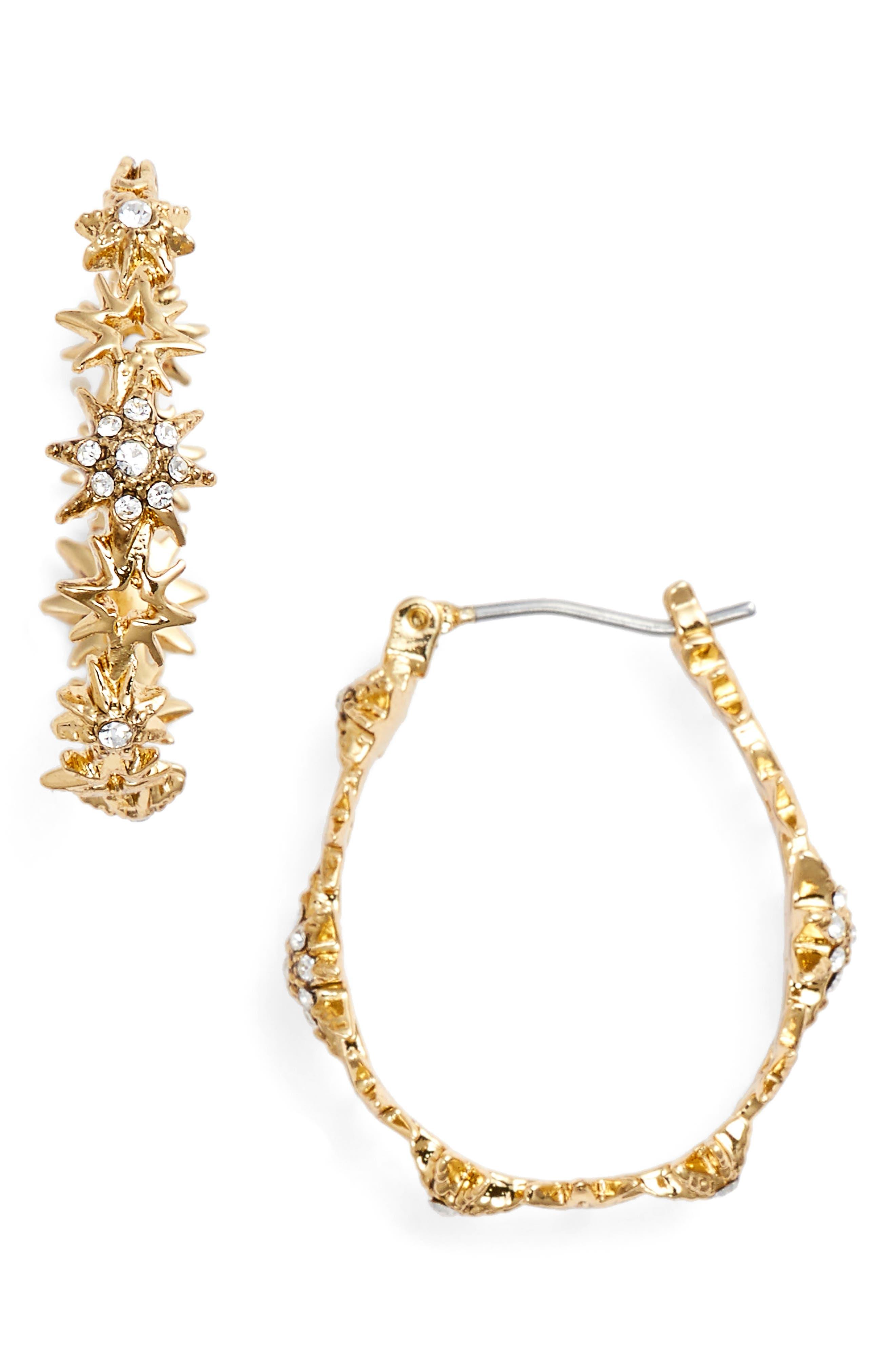 Jenny Packham Star Hoop Earrings