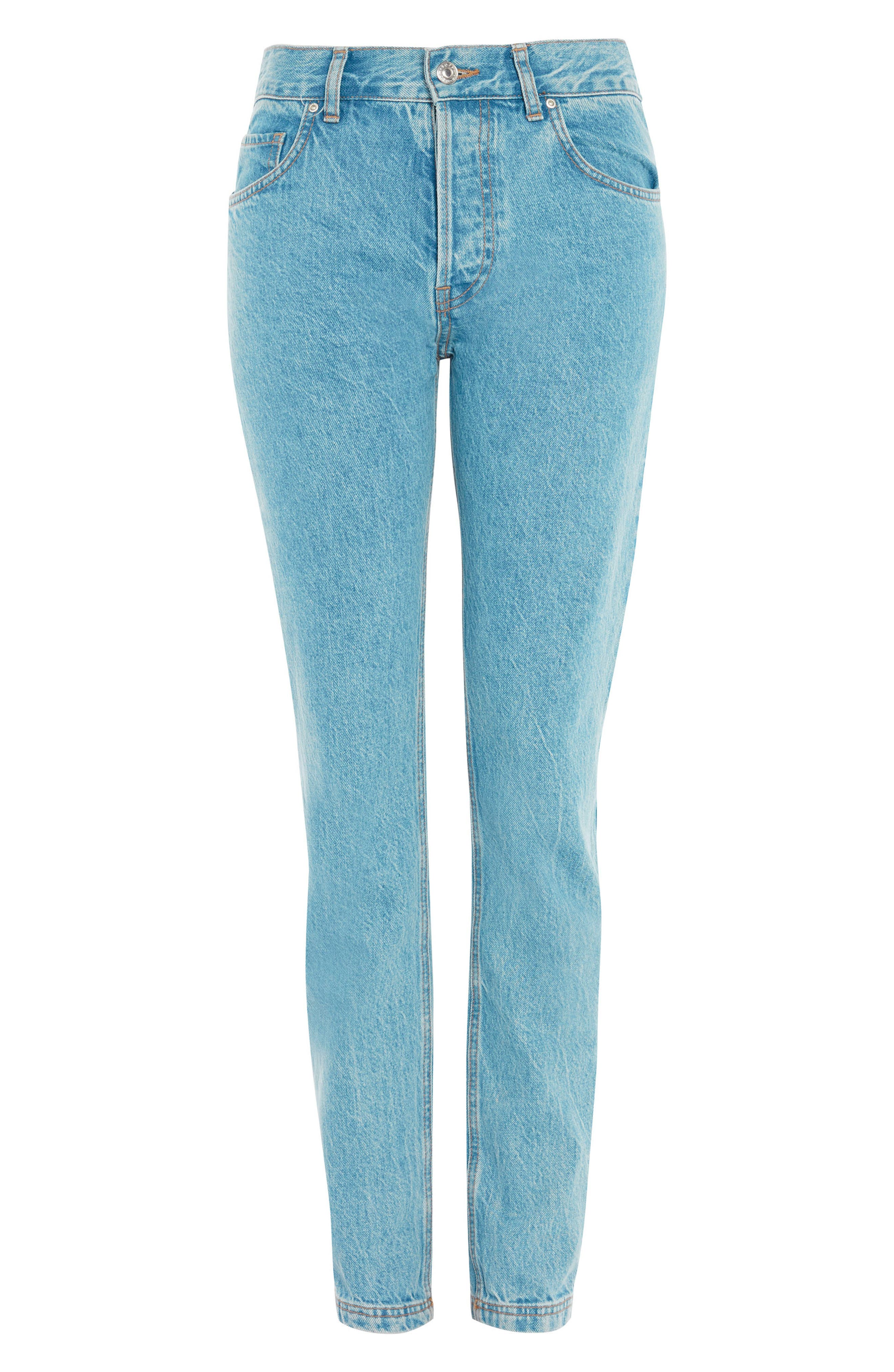 Slim Straight Leg Jeans,                         Main,                         color, Light Blue
