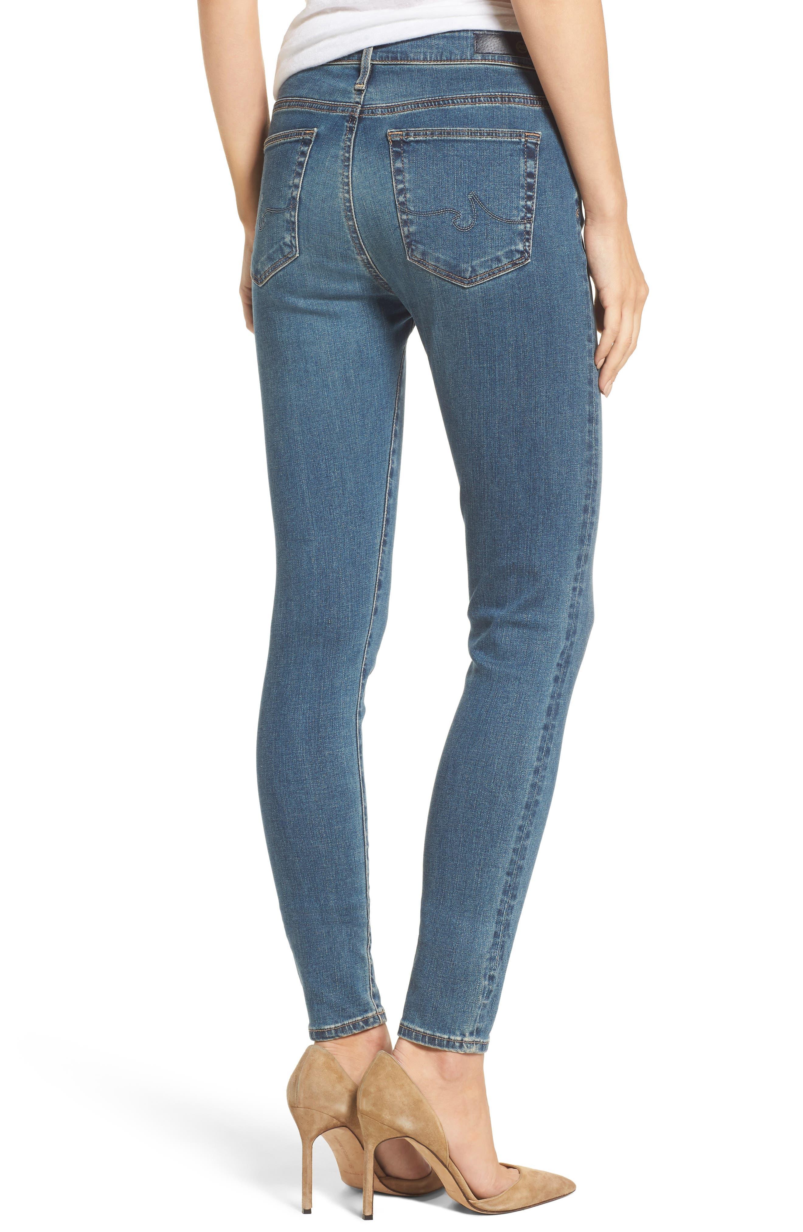 Alternate Image 2  - AG 'The Farrah' High Rise Skinny Jeans