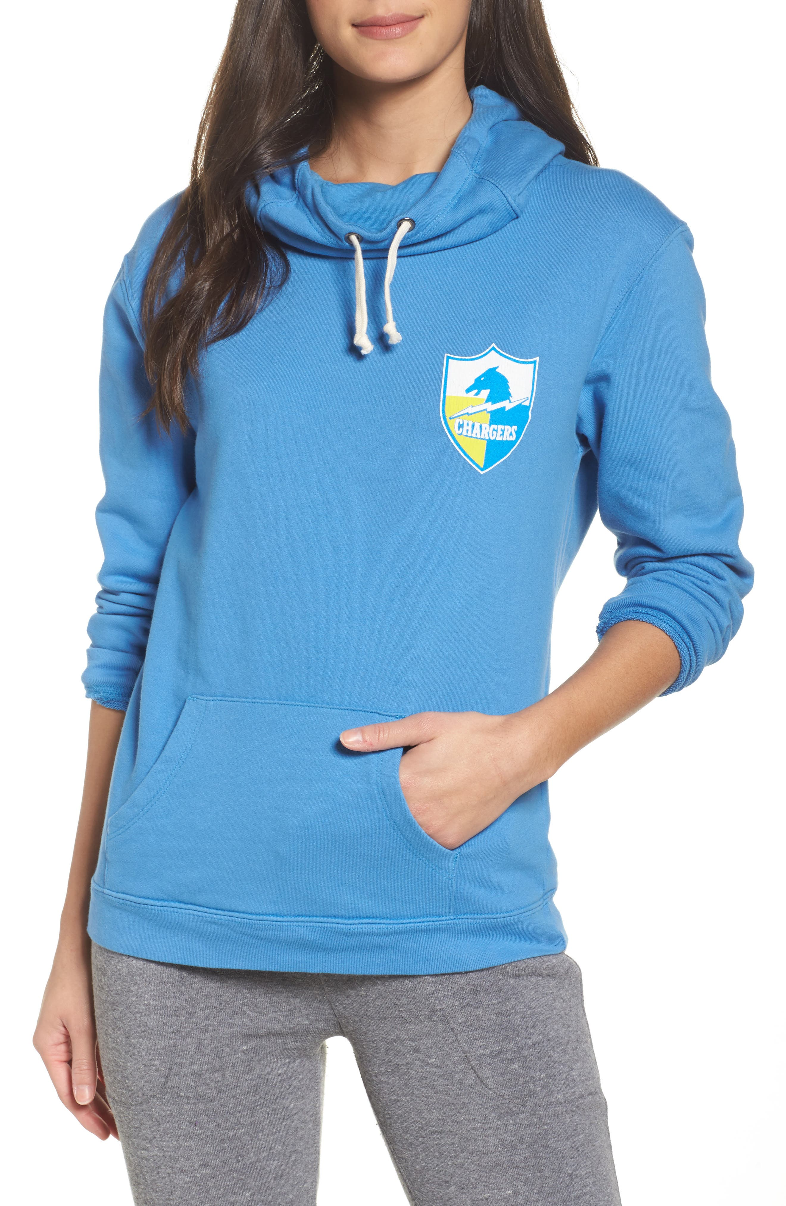 NFL Los Angeles Chargers Sunday Hoodie,                         Main,                         color, Blueberry