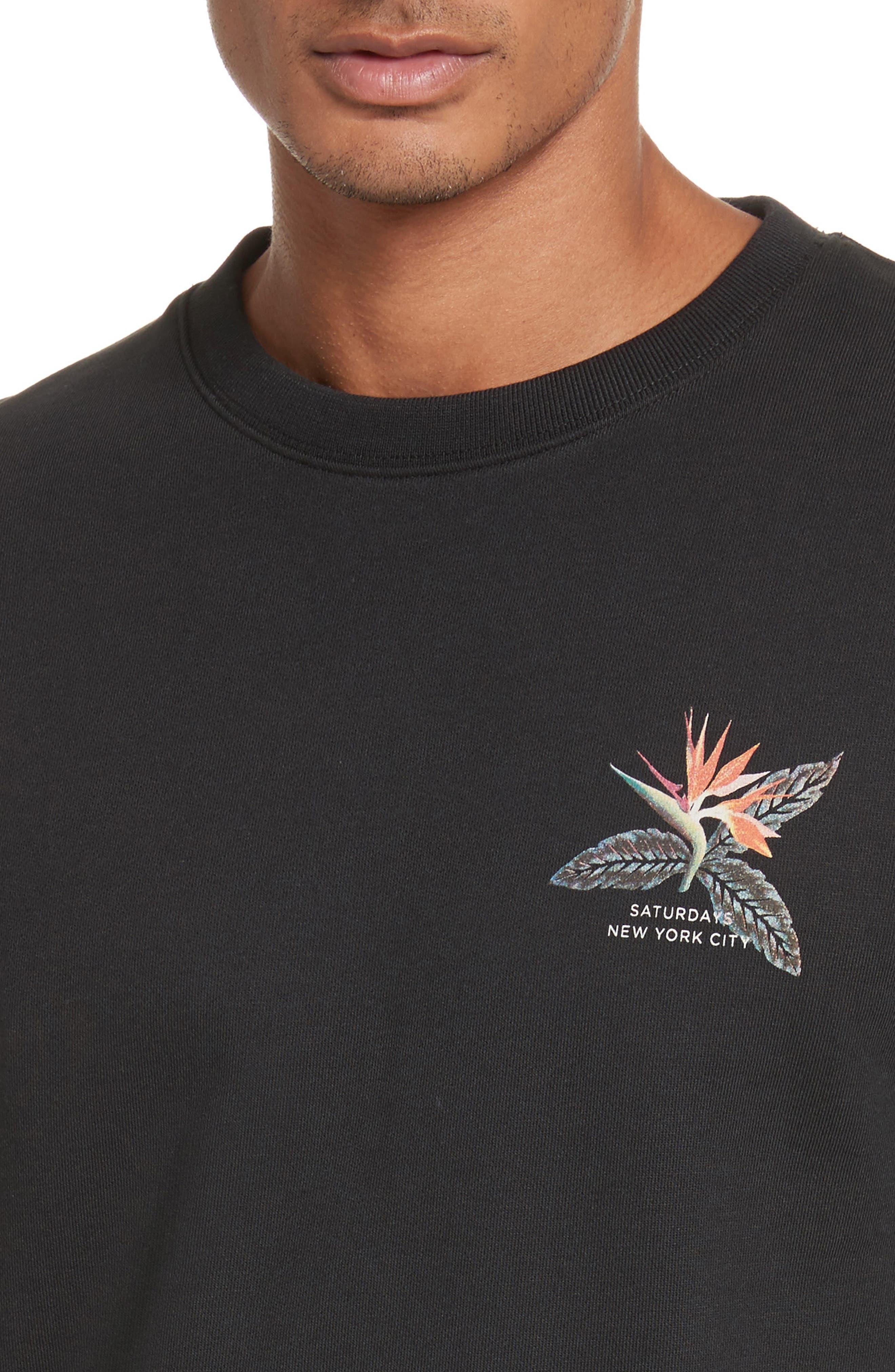 Browery Paradise Graphic Sweatshirt,                             Alternate thumbnail 4, color,                             Black
