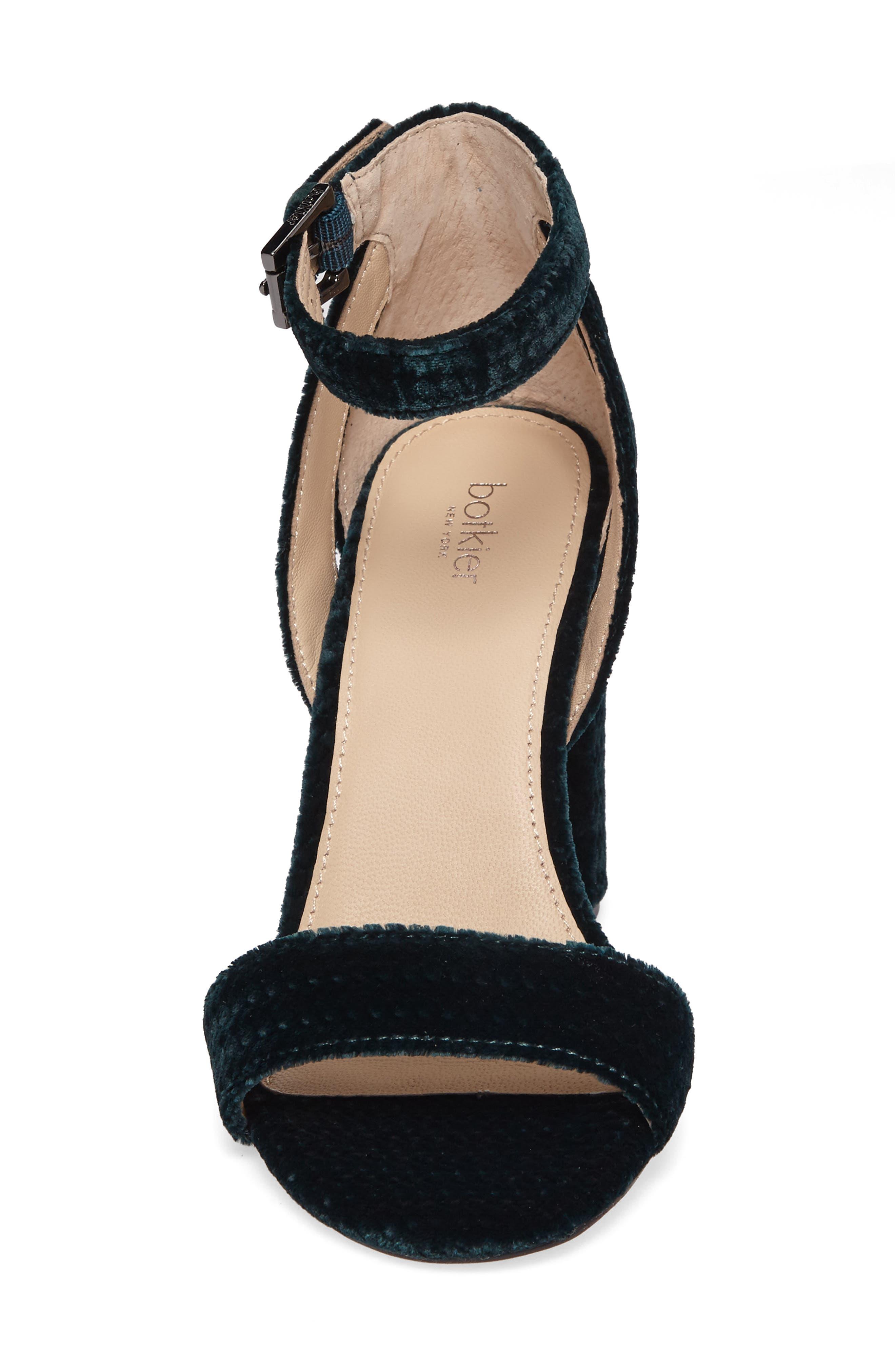 Gianna Ankle Strap Sandal,                             Alternate thumbnail 4, color,                             Emerald Velvet