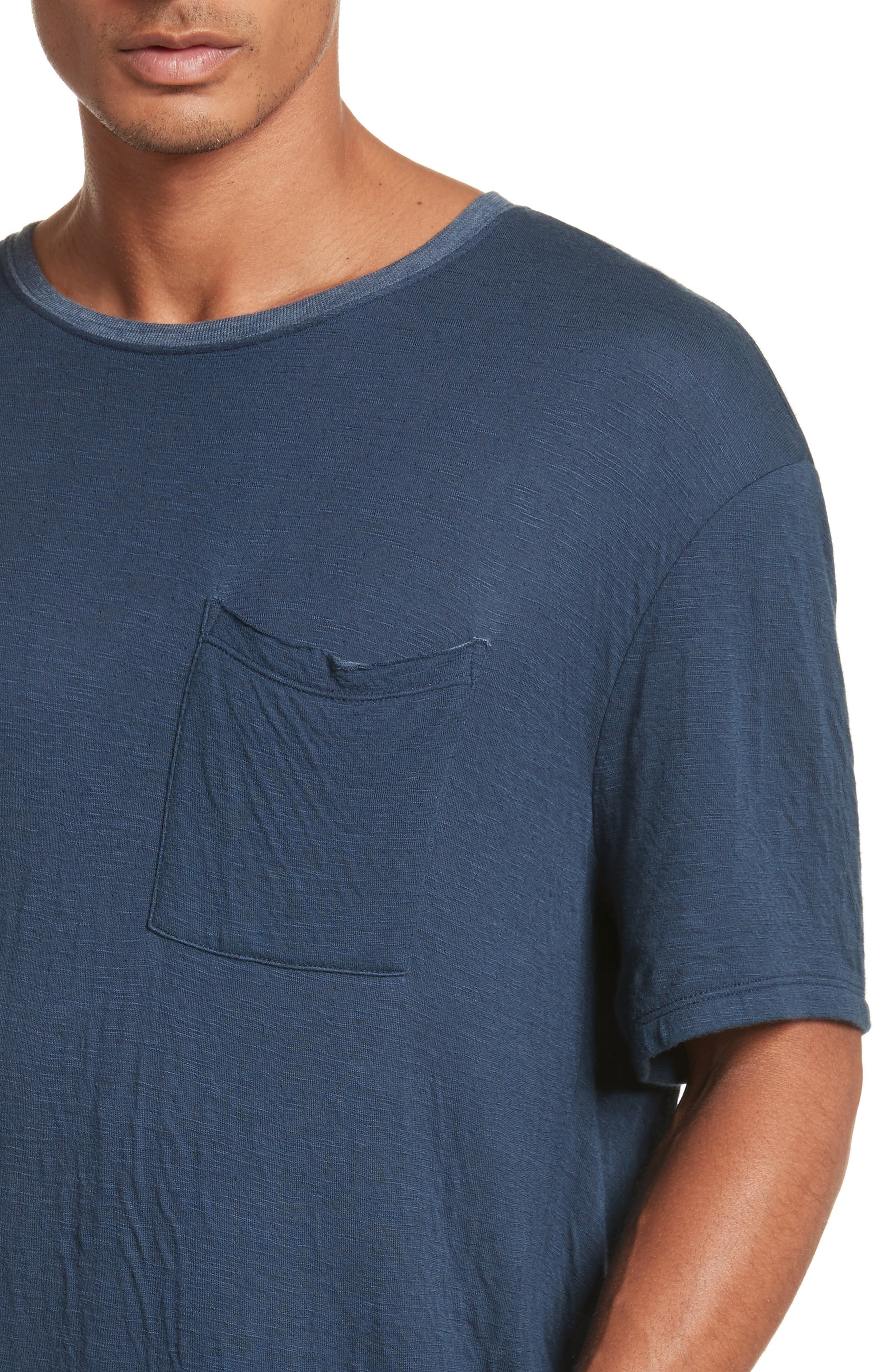 Double Face T-Shirt,                             Alternate thumbnail 4, color,                             Navy