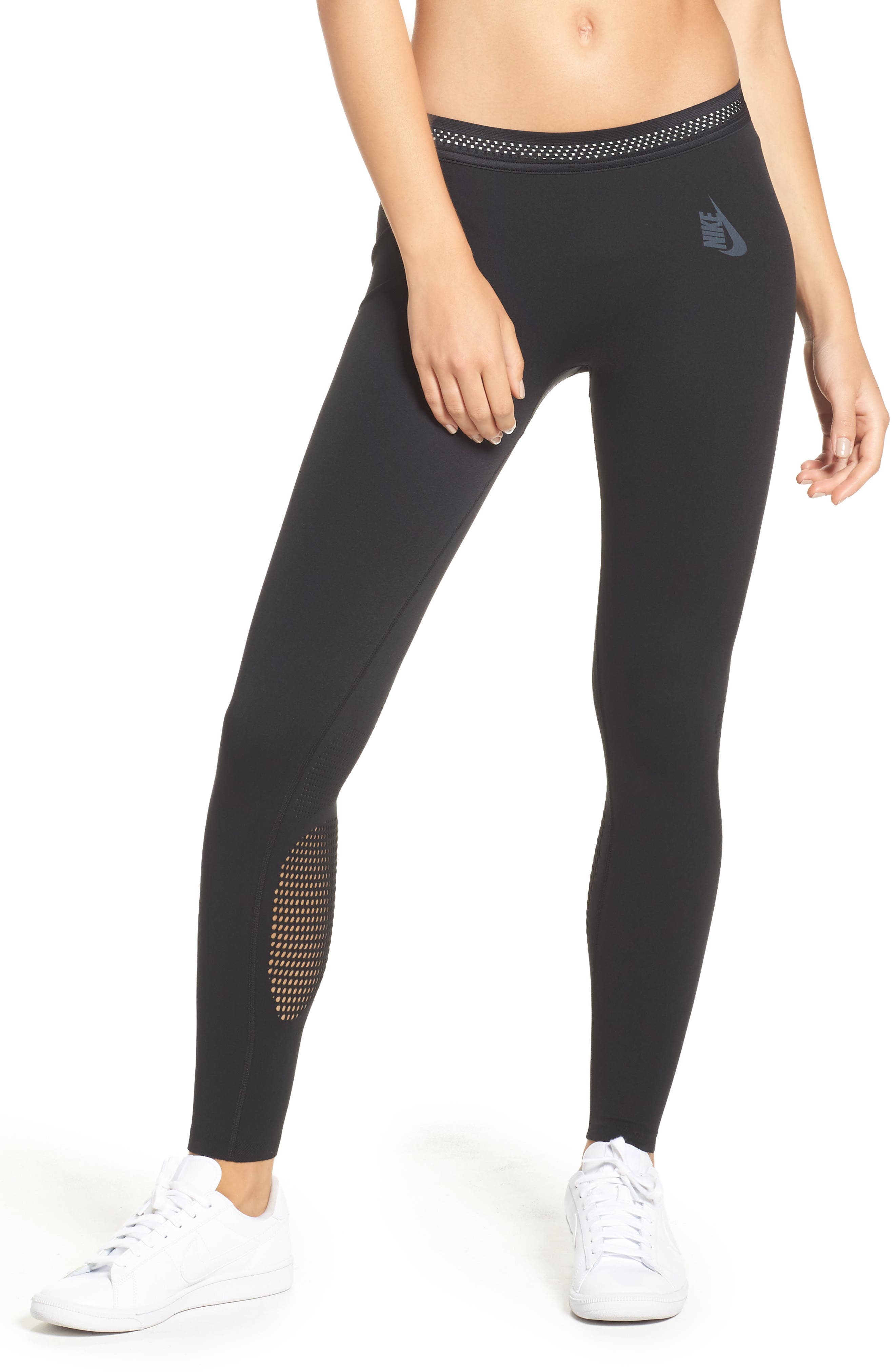 NikeLab Essential Training Tights,                         Main,                         color, Black/ Cool Grey
