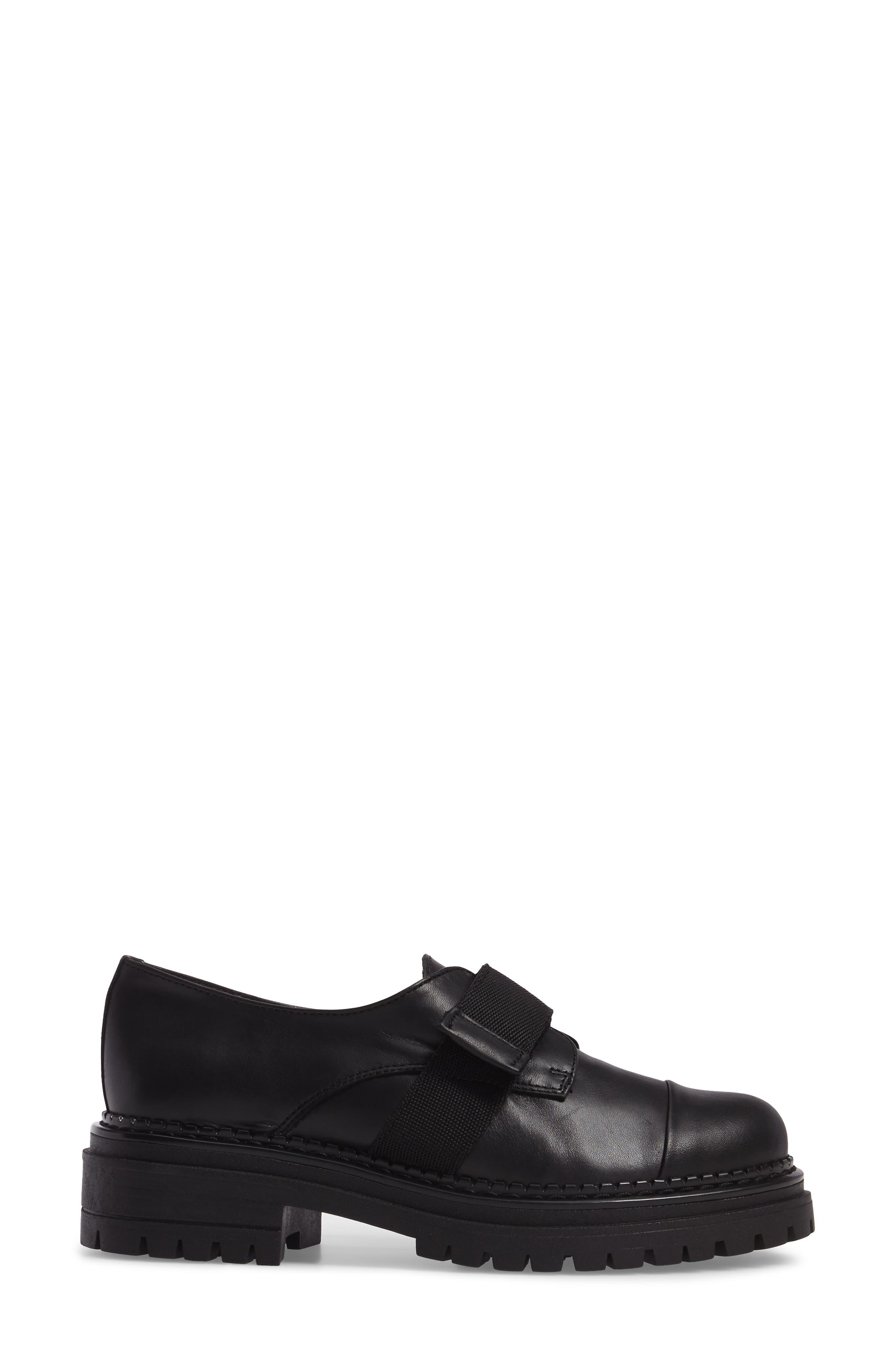 Keeper Lug Sole Loafer,                             Alternate thumbnail 3, color,                             Black