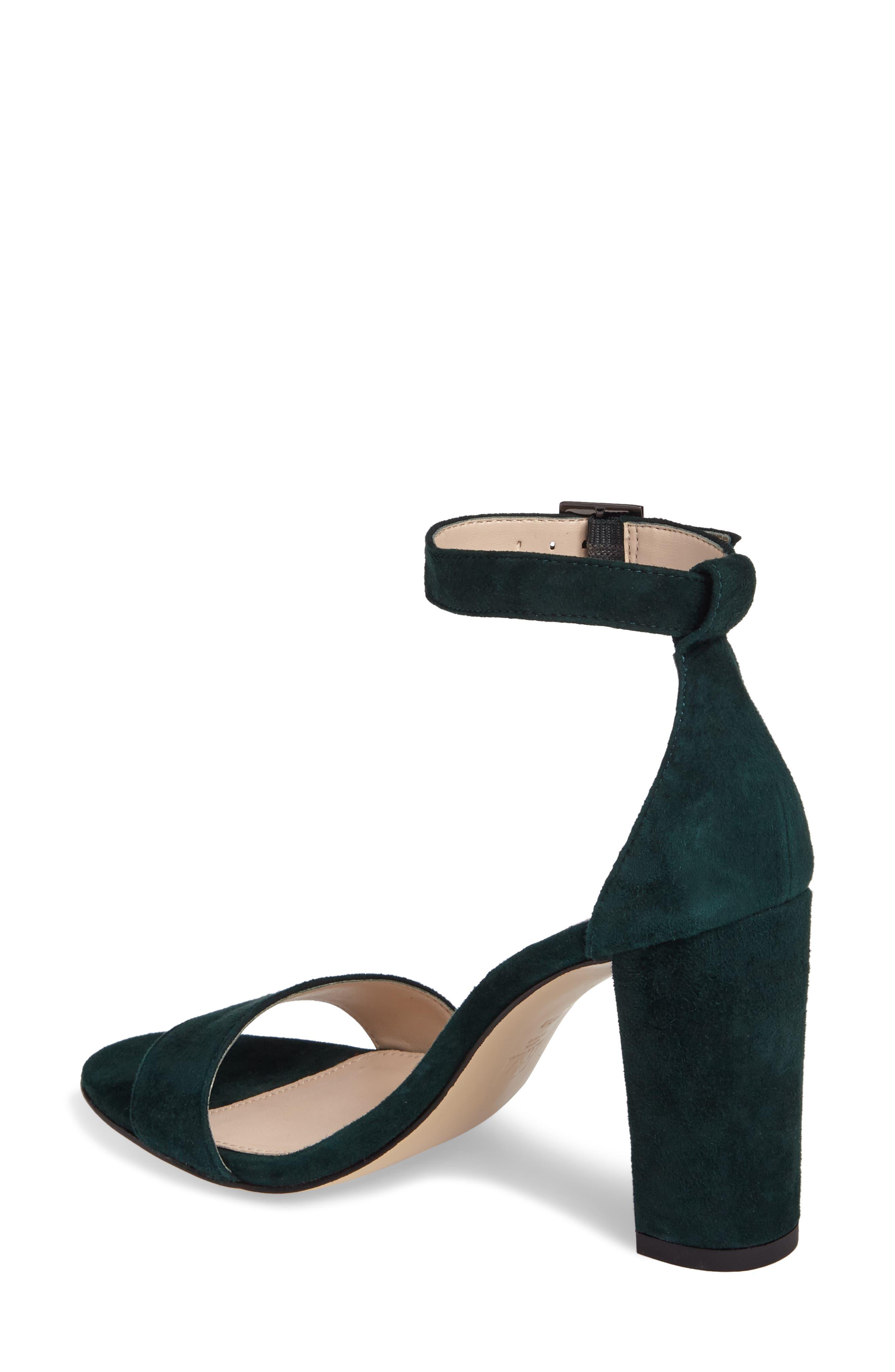 Bonnie Ankle Strap Sandal,                             Alternate thumbnail 2, color,                             Forest Leather