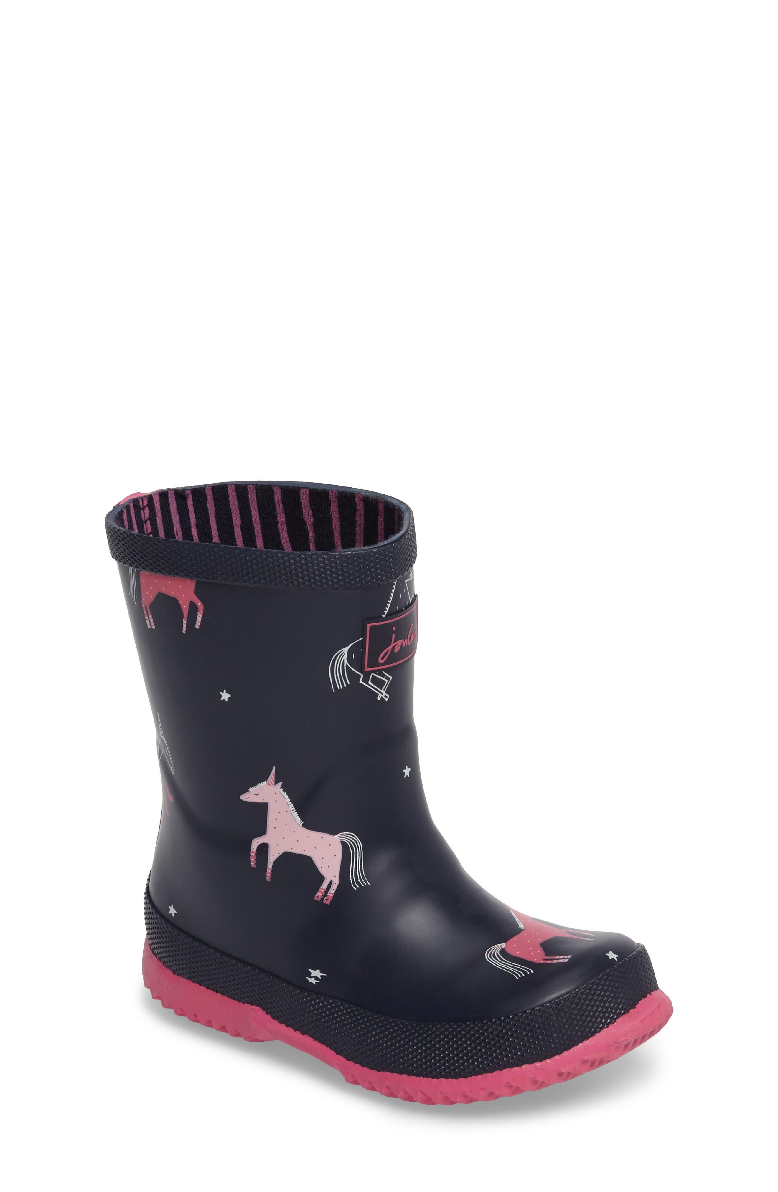 Alternate Image 1 Selected - Joules Printed Waterproof Rain Boot (Walker, Toddler & Little Kid)
