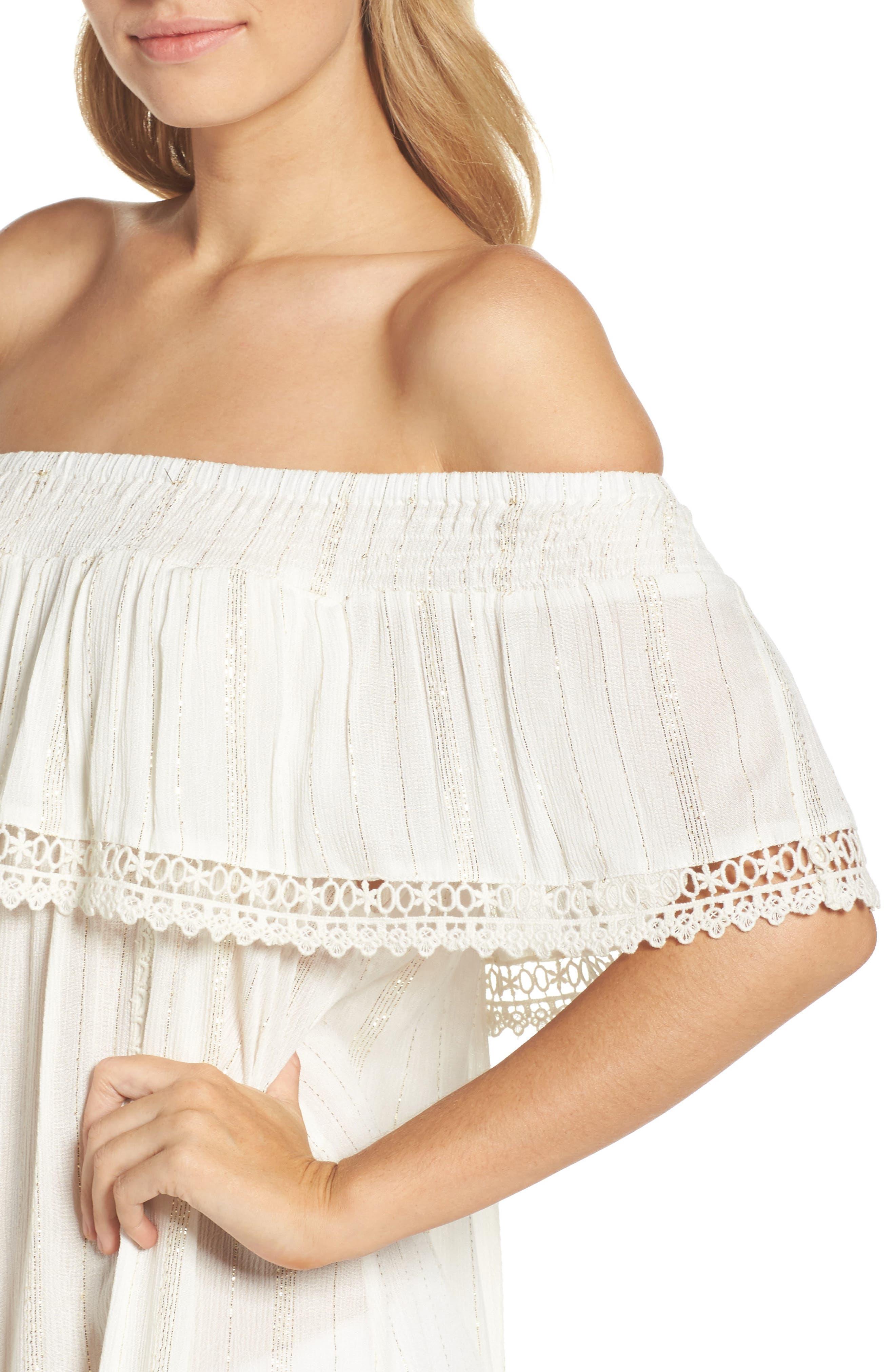 Alternate Image 4  - Muche et Muchette Iris Ruffle Cover-Up Dress