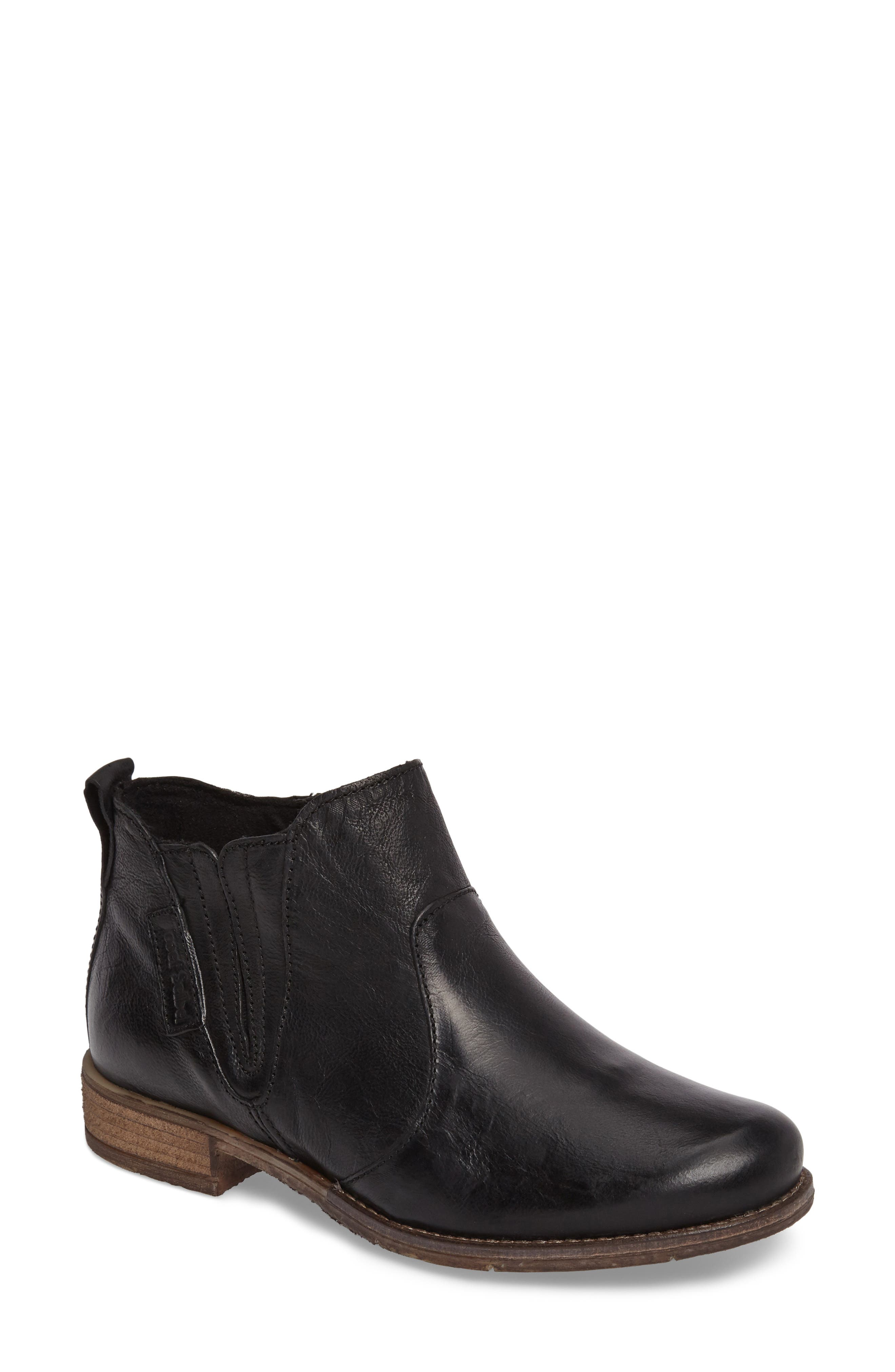Sienna 45 Chelsea Bootie,                             Main thumbnail 1, color,                             Black Leather