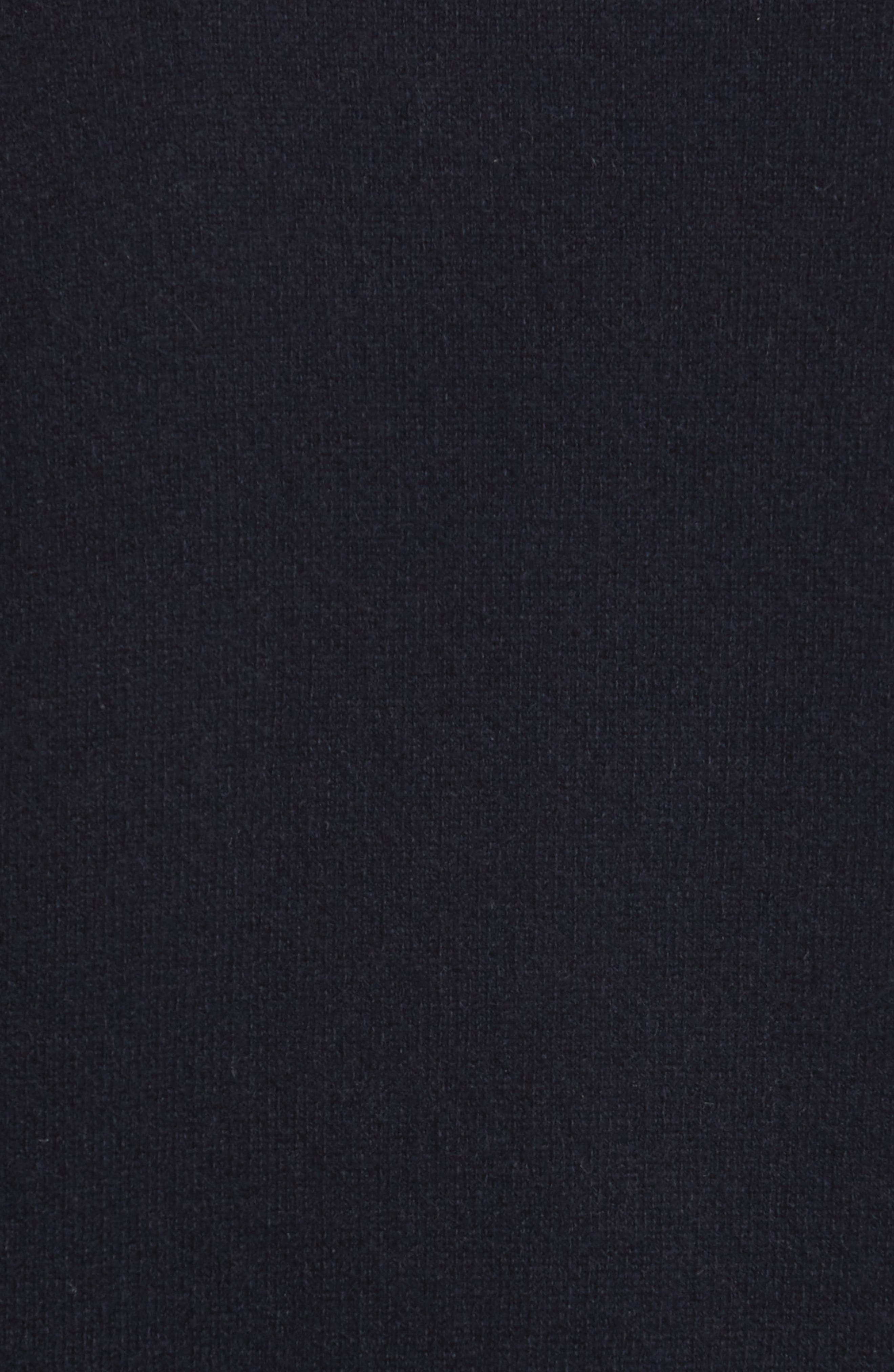 Double Layer Cashmere & Cotton Sweater,                             Alternate thumbnail 5, color,                             Coastal/ Black
