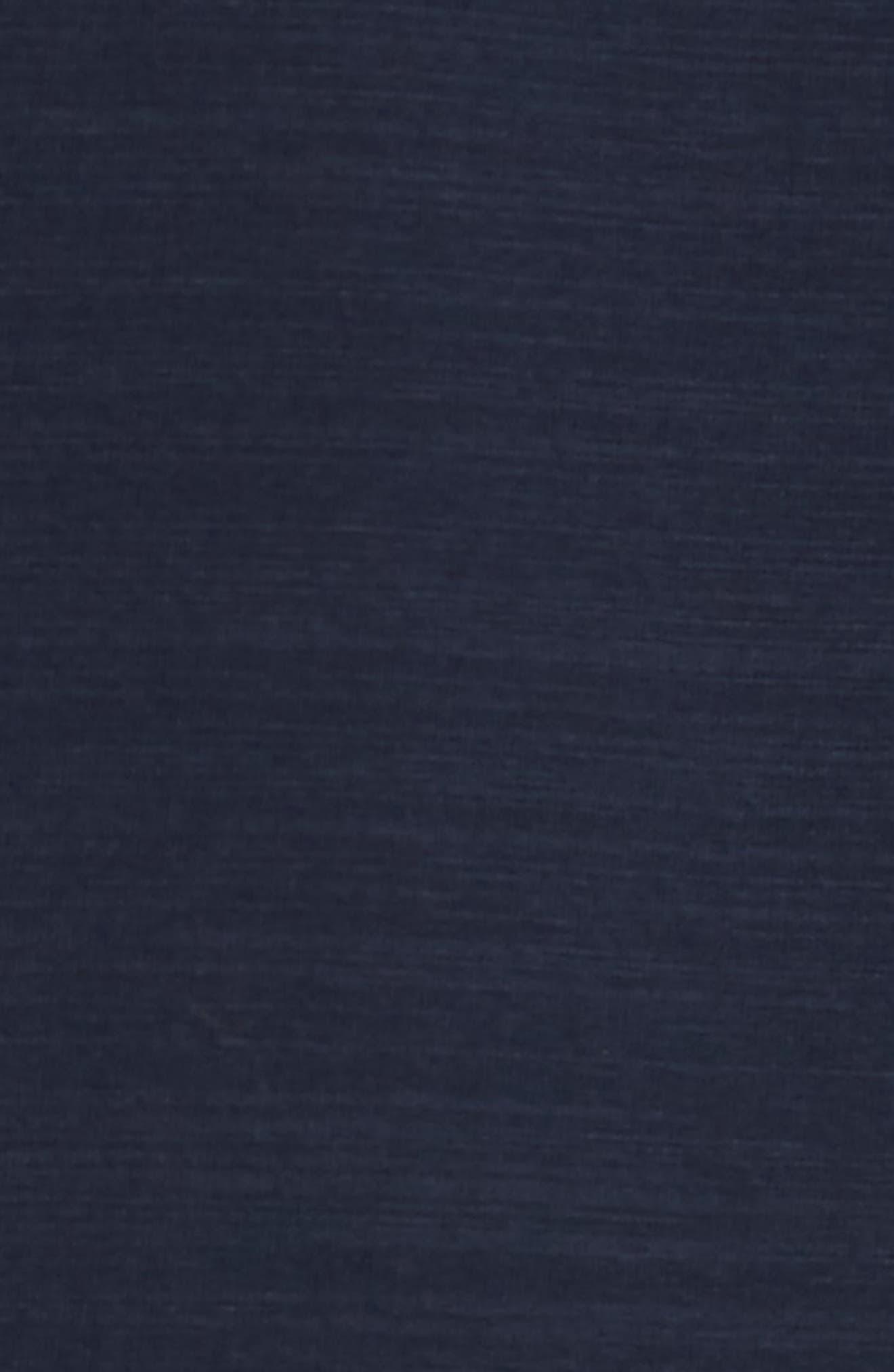 Vinn Slubbed Long Sleeve V-Neck T-Shirt,                             Alternate thumbnail 5, color,                             Ink