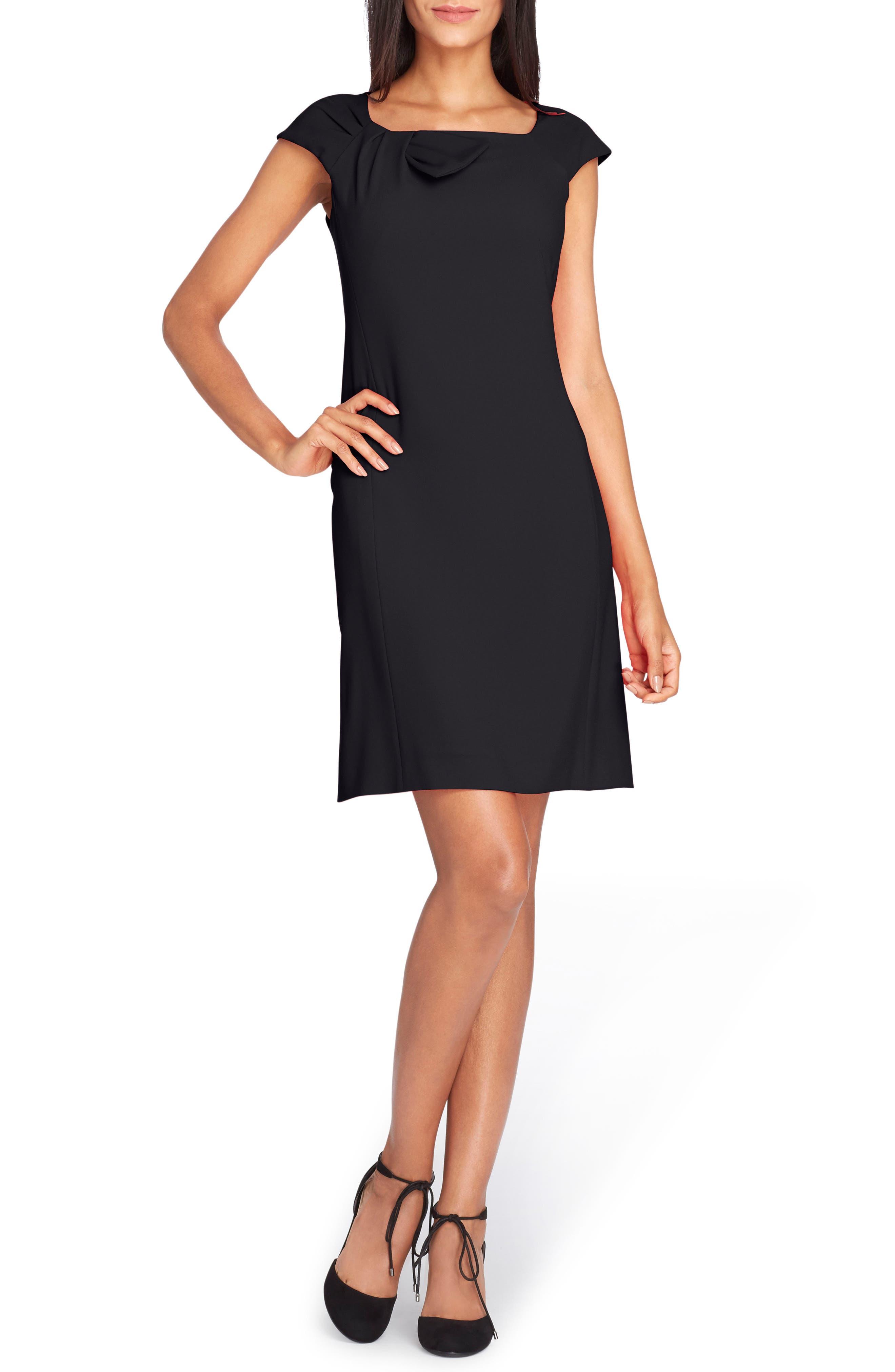 Alternate Image 1 Selected - Tahari Bow Neck Sheath Dress (Regular & Petite)