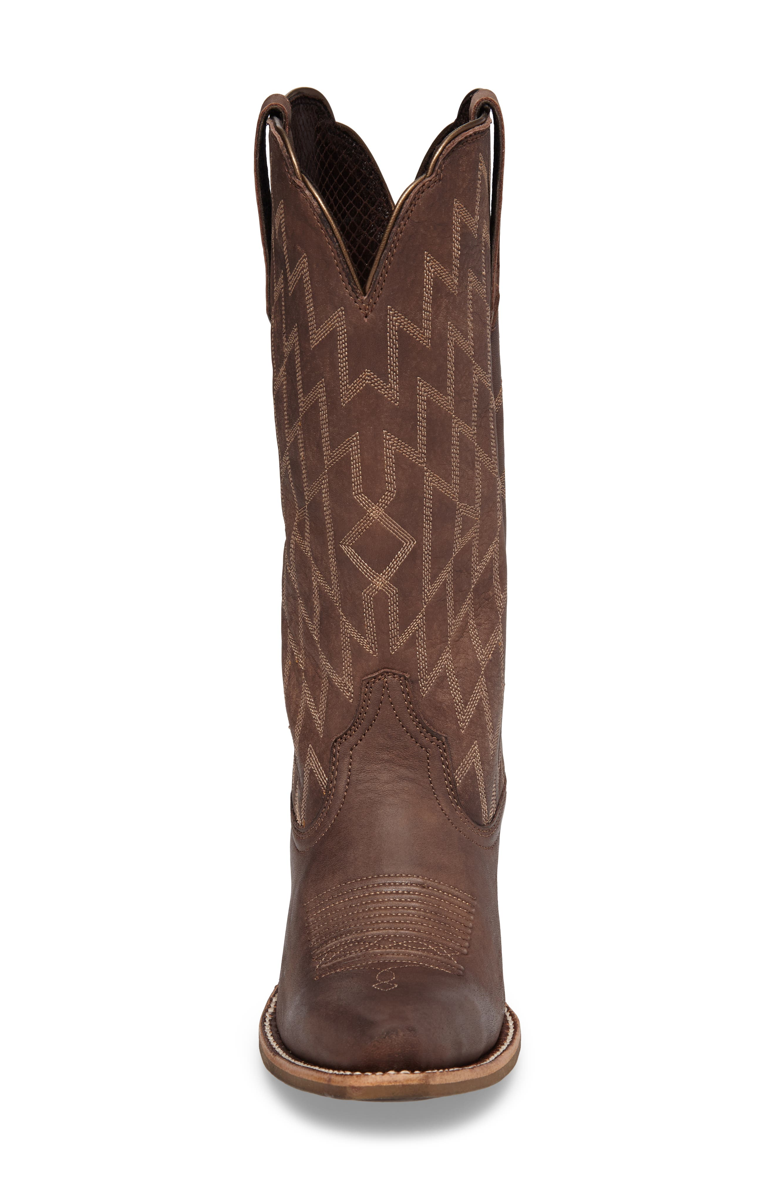 Heritage Southwestern X-Toe Boot,                             Alternate thumbnail 4, color,                             Tack Room Chocolate Leather