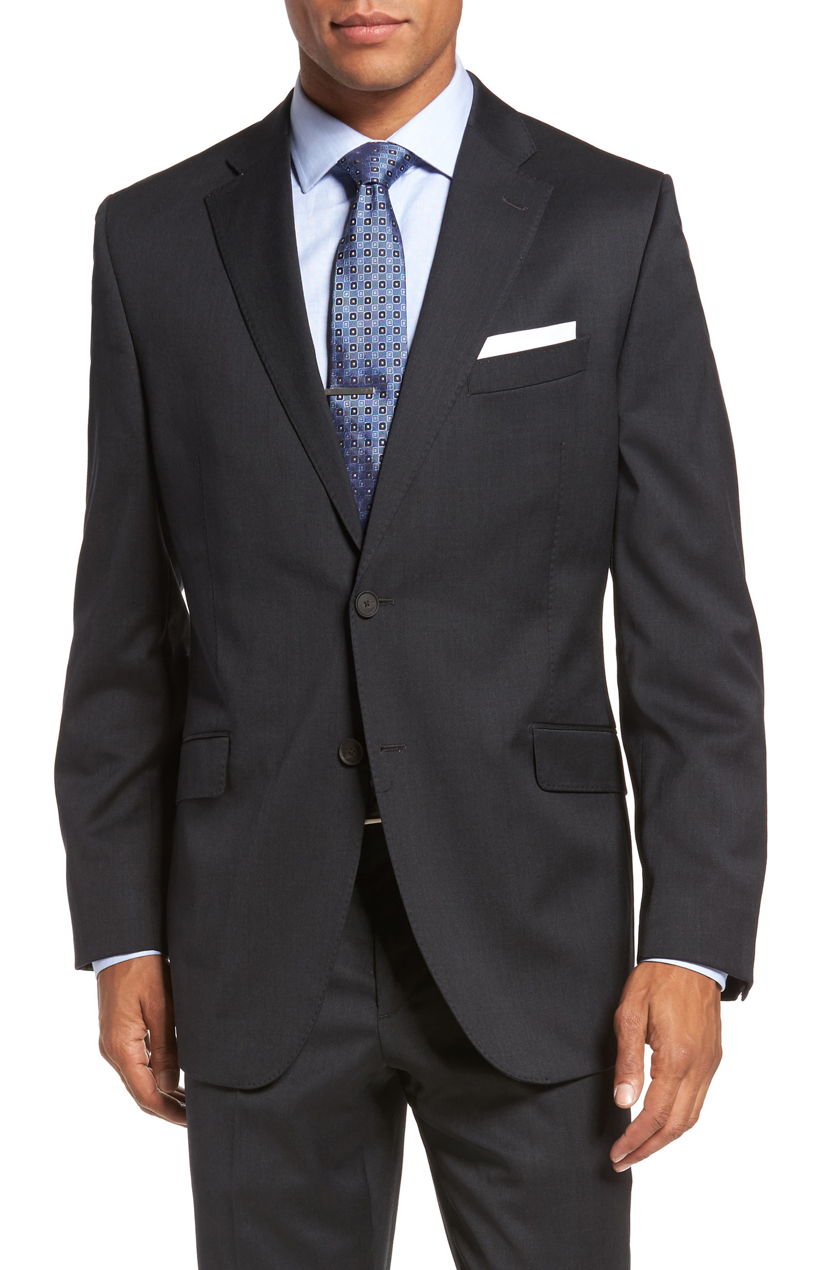 Keidis Aim Classic Fit Stretch Wool Suit,                             Alternate thumbnail 5, color,                             Charcoal