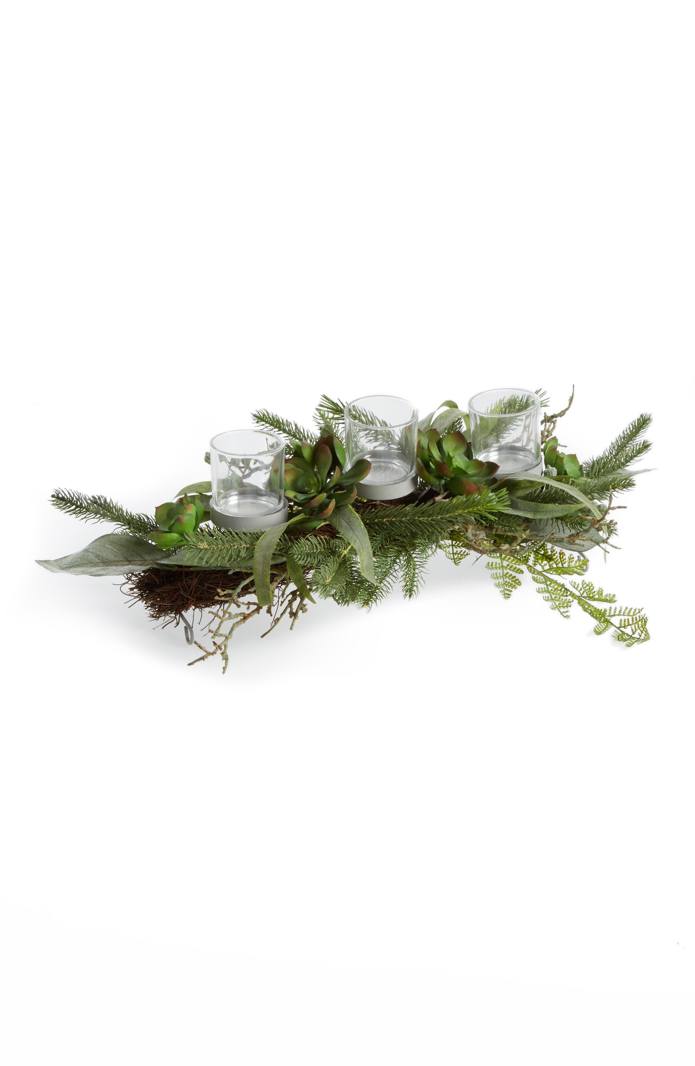 Alternate Image 1 Selected - ALLSTATE Succulent & Pine Votive Box