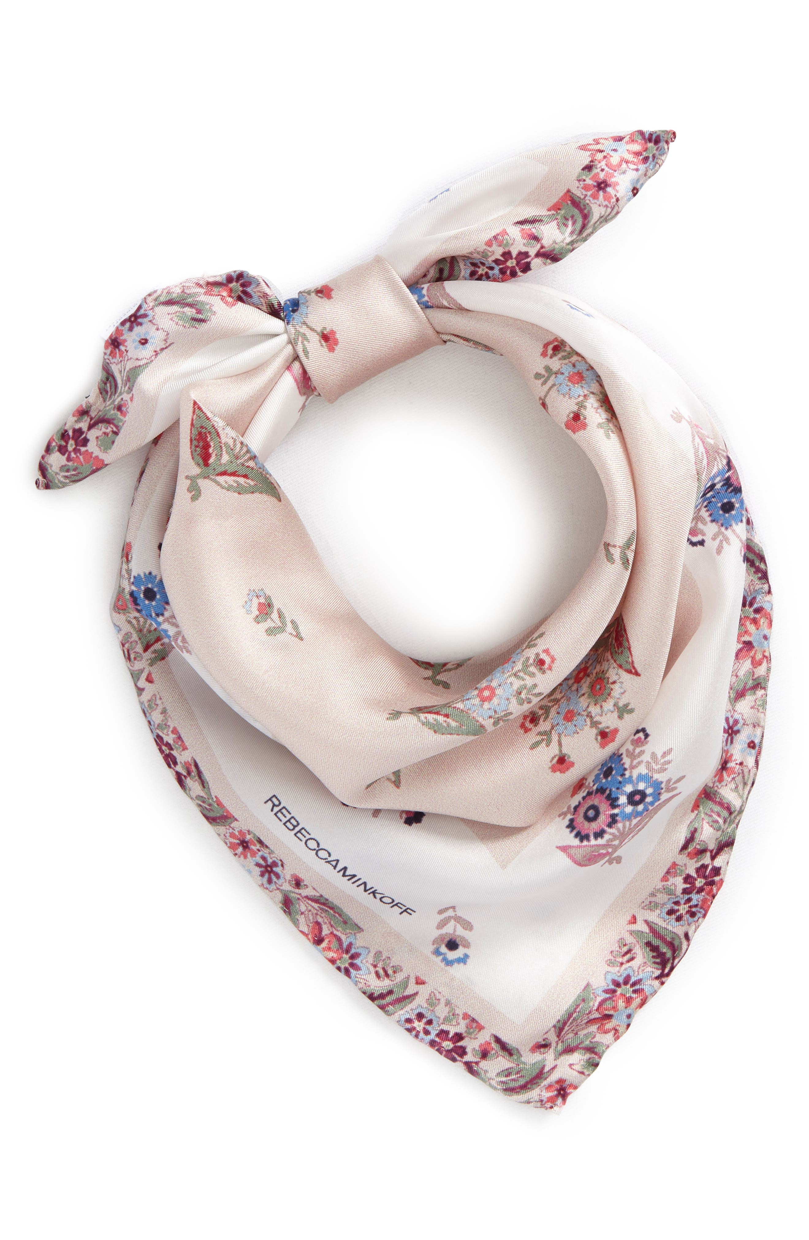 Rebecca Minkoff Baby Ditsy Floral Silk Bandana