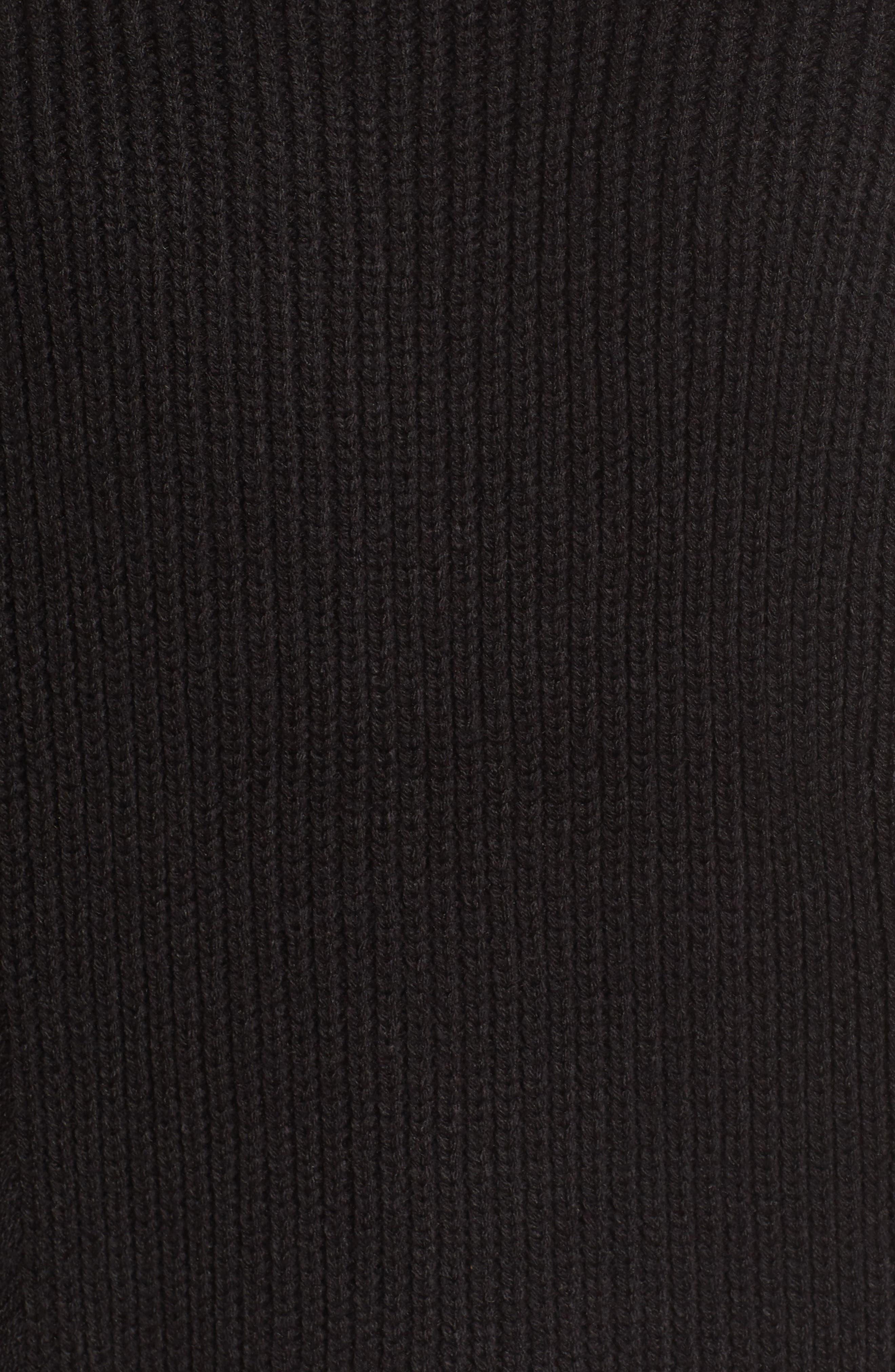 Destroyed Sweater,                             Alternate thumbnail 6, color,                             Black