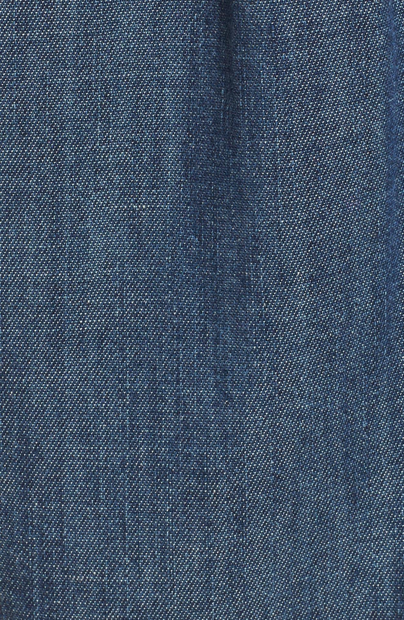 Alternate Image 5  - AG Joanna Embroidered Denim Shirt