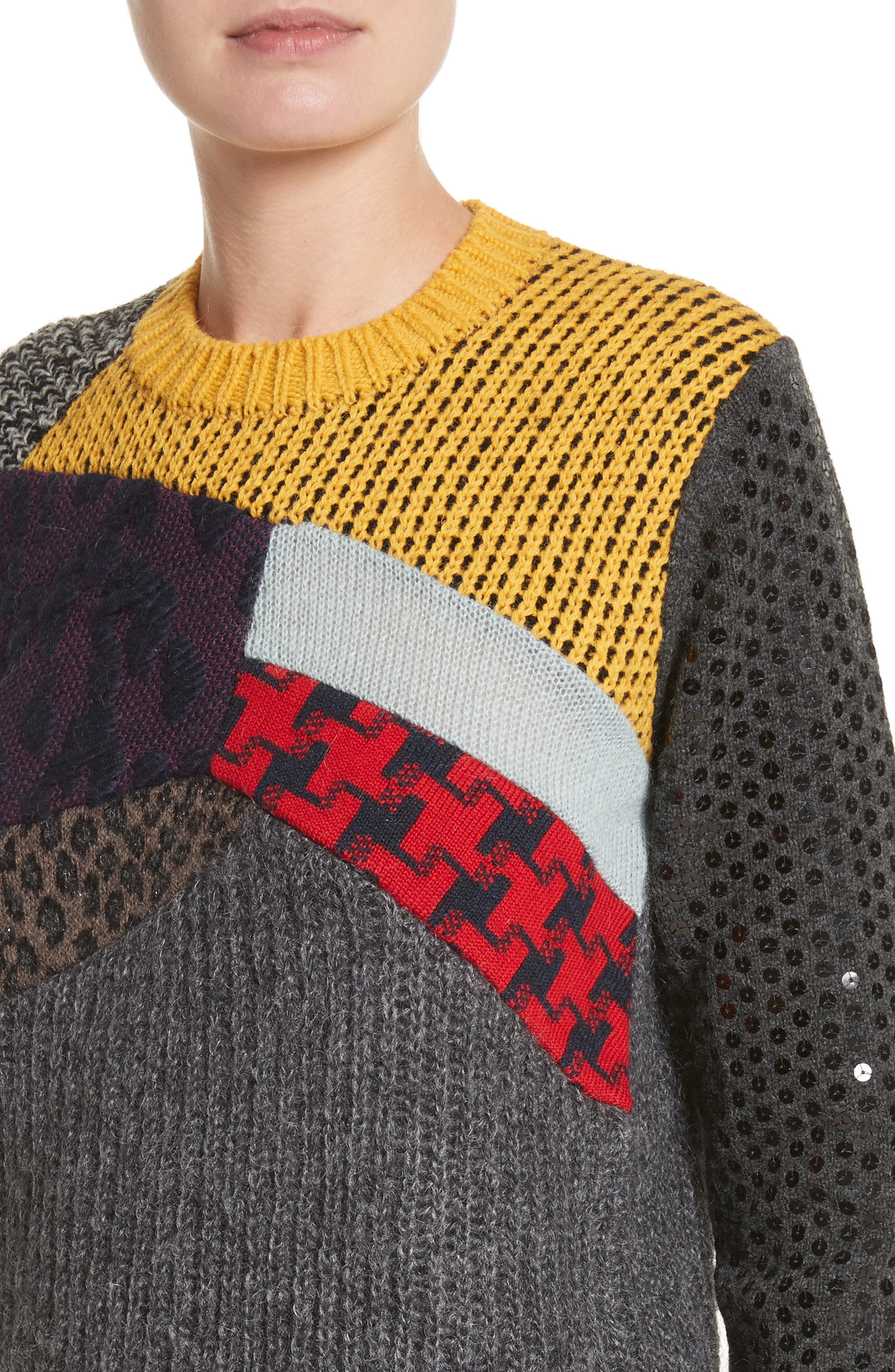 Alternate Image 4  - Junya Watanabe Mixed Media Sweater