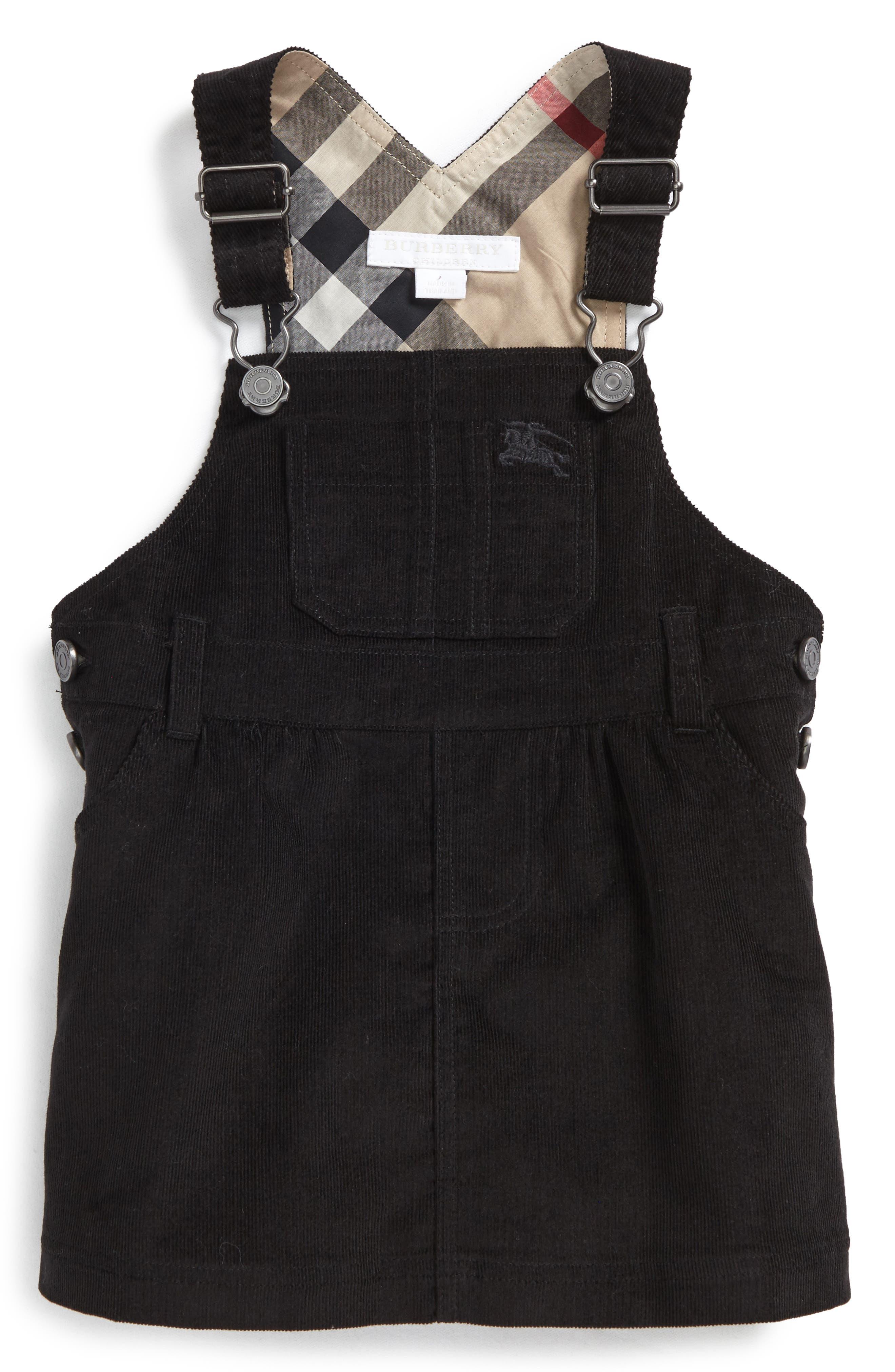 Main Image - Burberry Wilma Overalls Dress (Baby Girl)