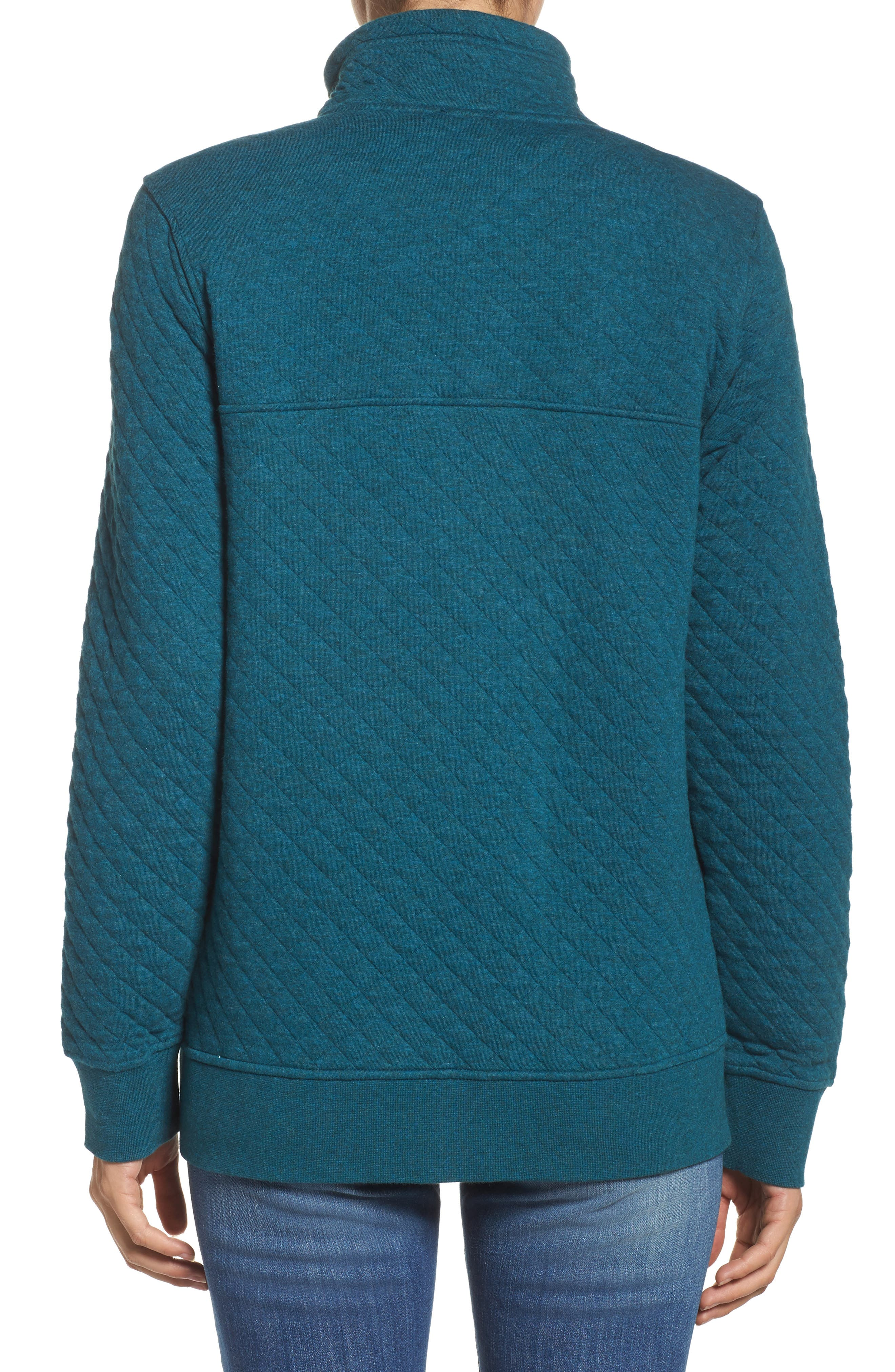 Snap-T<sup>®</sup> Quilted Pullover,                             Alternate thumbnail 2, color,                             Elwha Blue