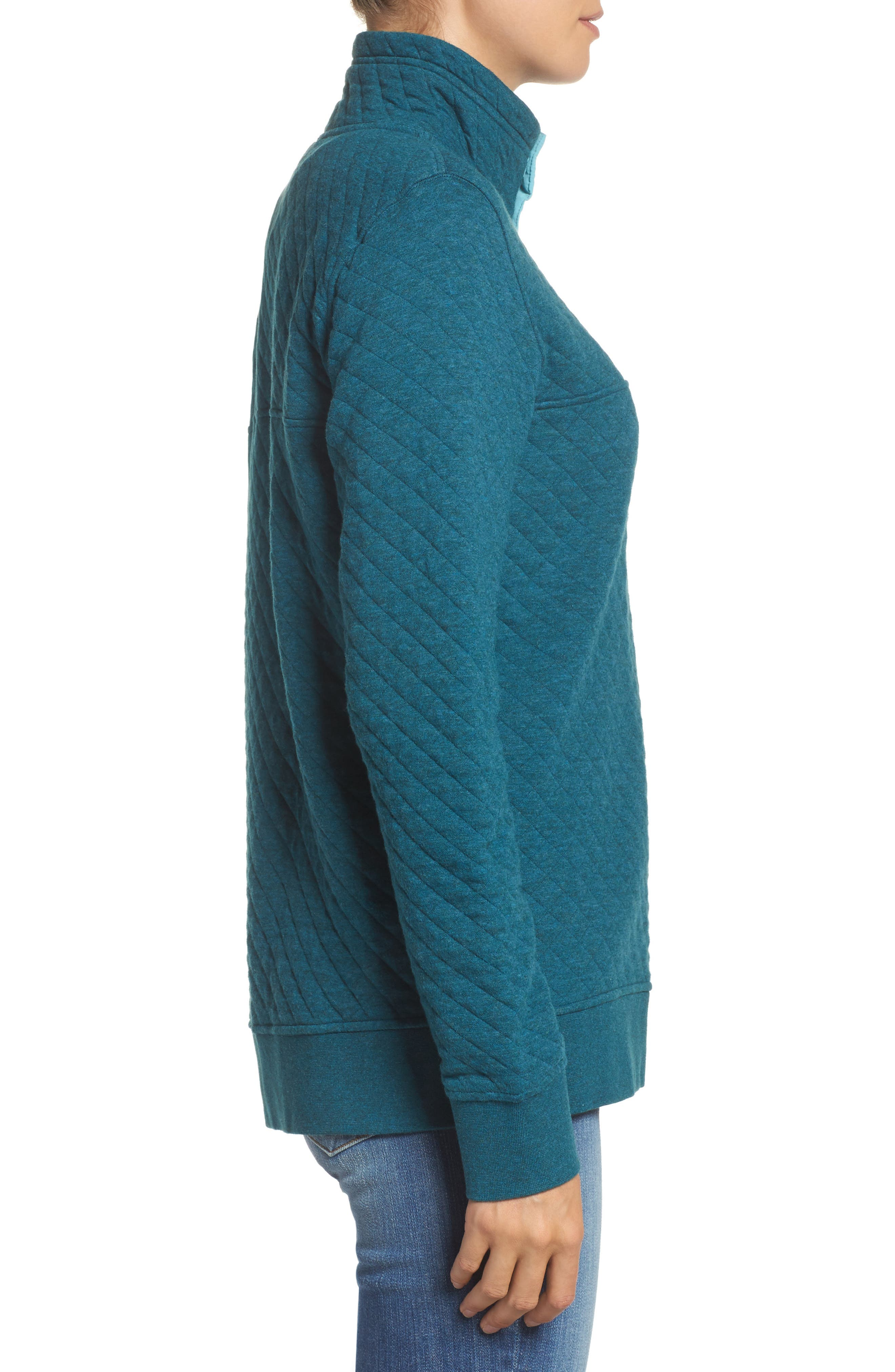 Snap-T<sup>®</sup> Quilted Pullover,                             Alternate thumbnail 3, color,                             Elwha Blue
