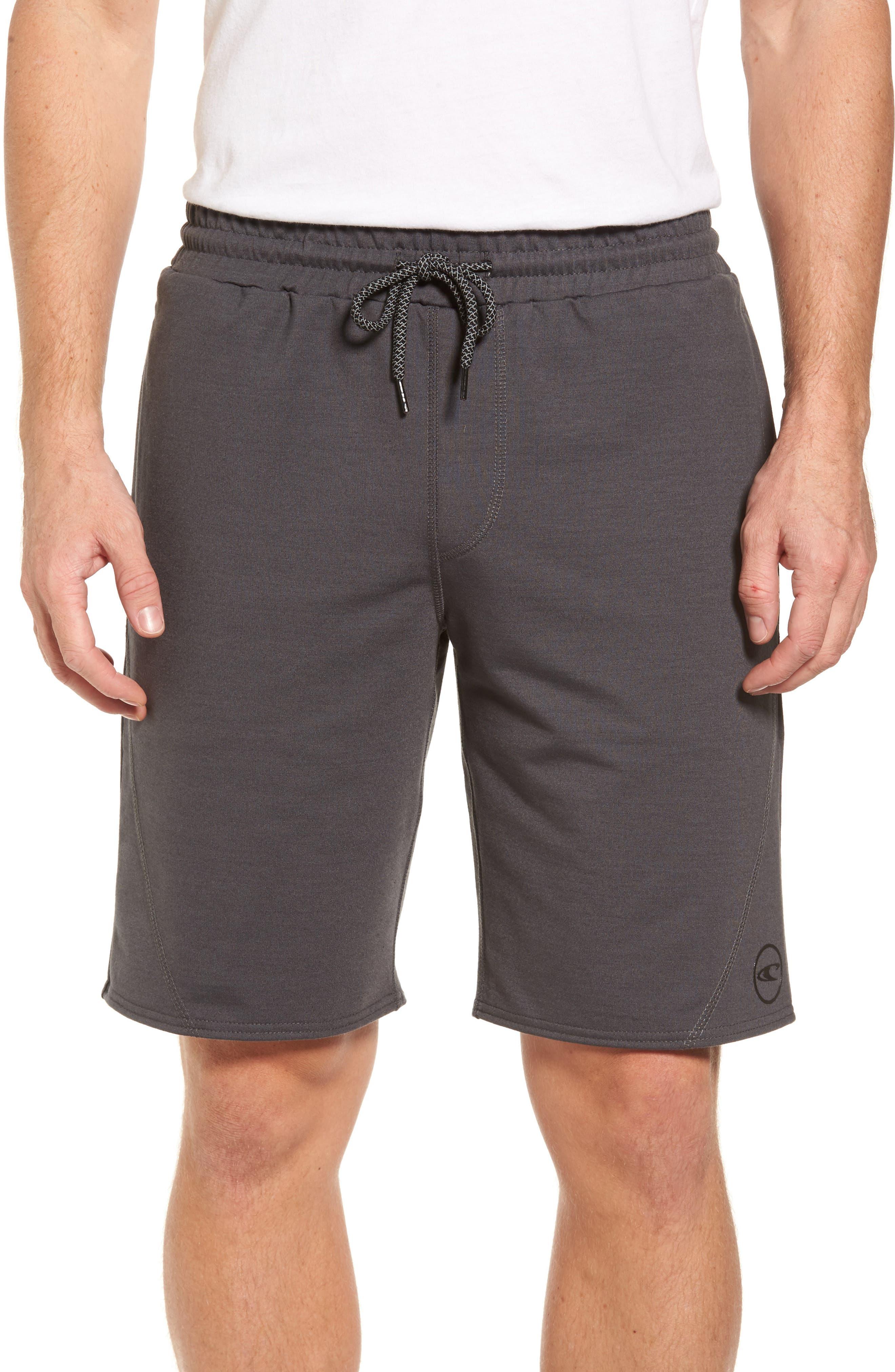 Traveler Fleece Shorts,                         Main,                         color, Asphalt