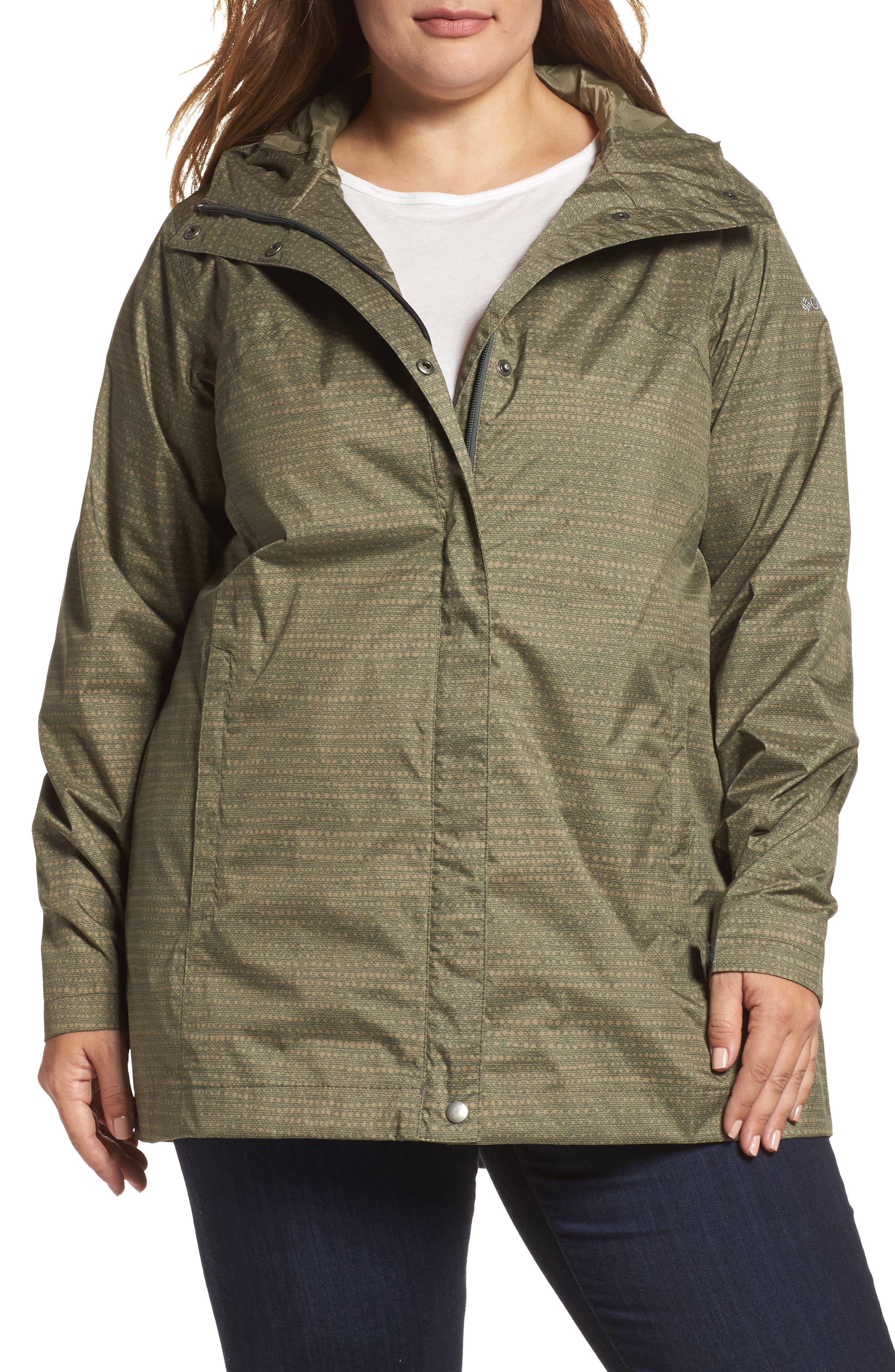 Columbia 'Splash a Little' Modern Classic Fit Waterproof Rain Jacket (Plus Size)