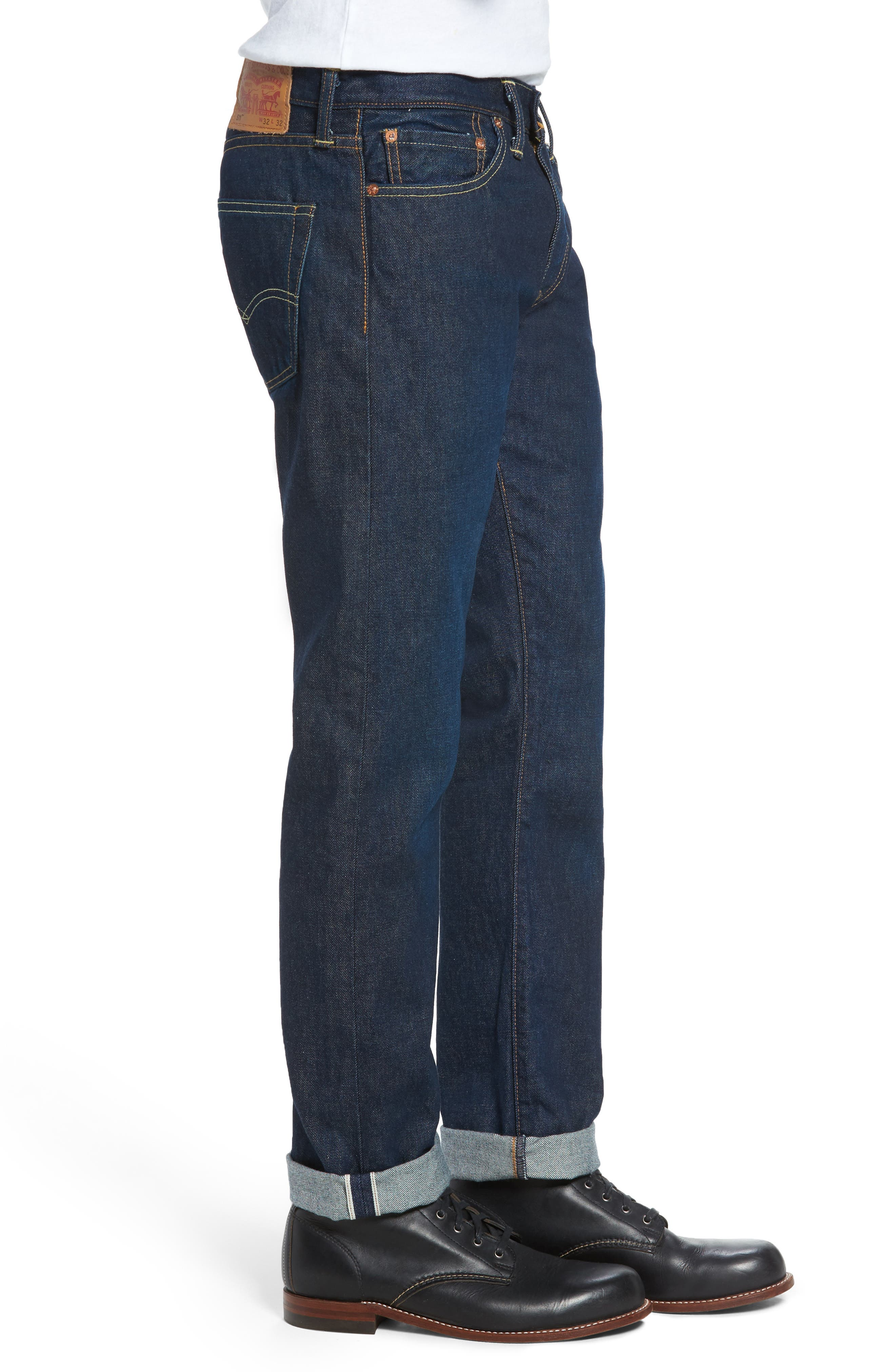 Alternate Image 3  - Levi's® 511™ Slim Fit Jeans (Selvedge)