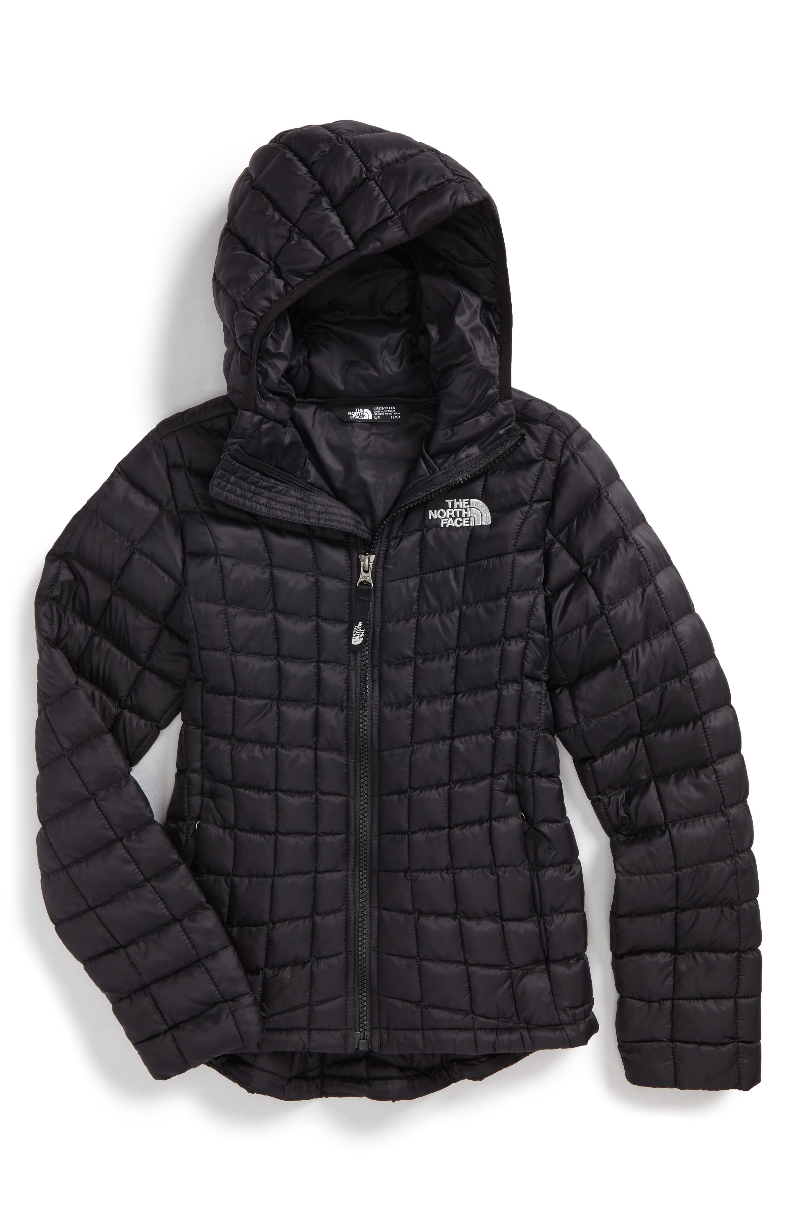 ThermoBall<sup>™</sup> PrimaLoft<sup>®</sup> Hooded Jacket,                         Main,                         color, Tnf Black