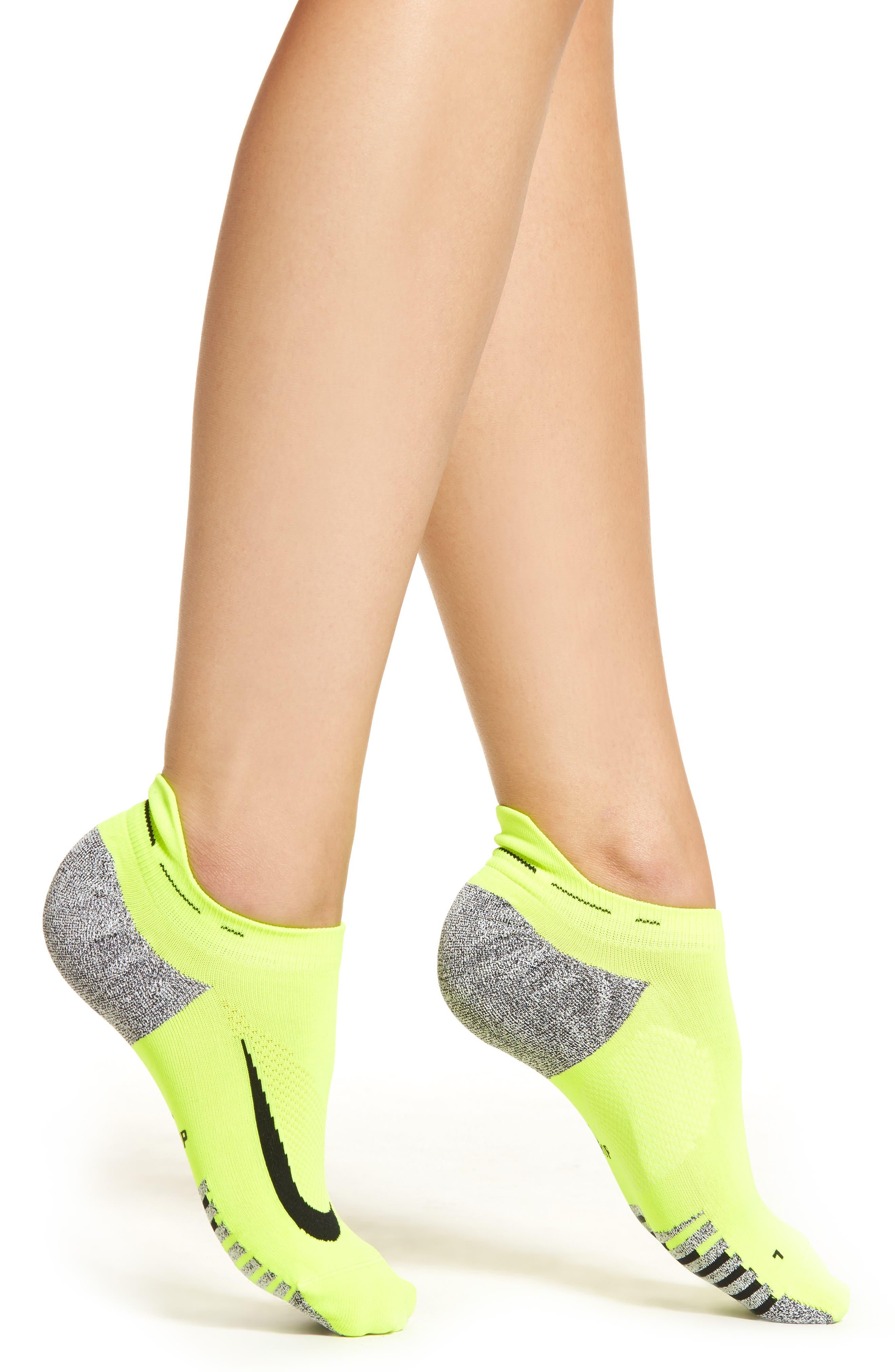Elite No-Show Running Socks,                         Main,                         color, Volt