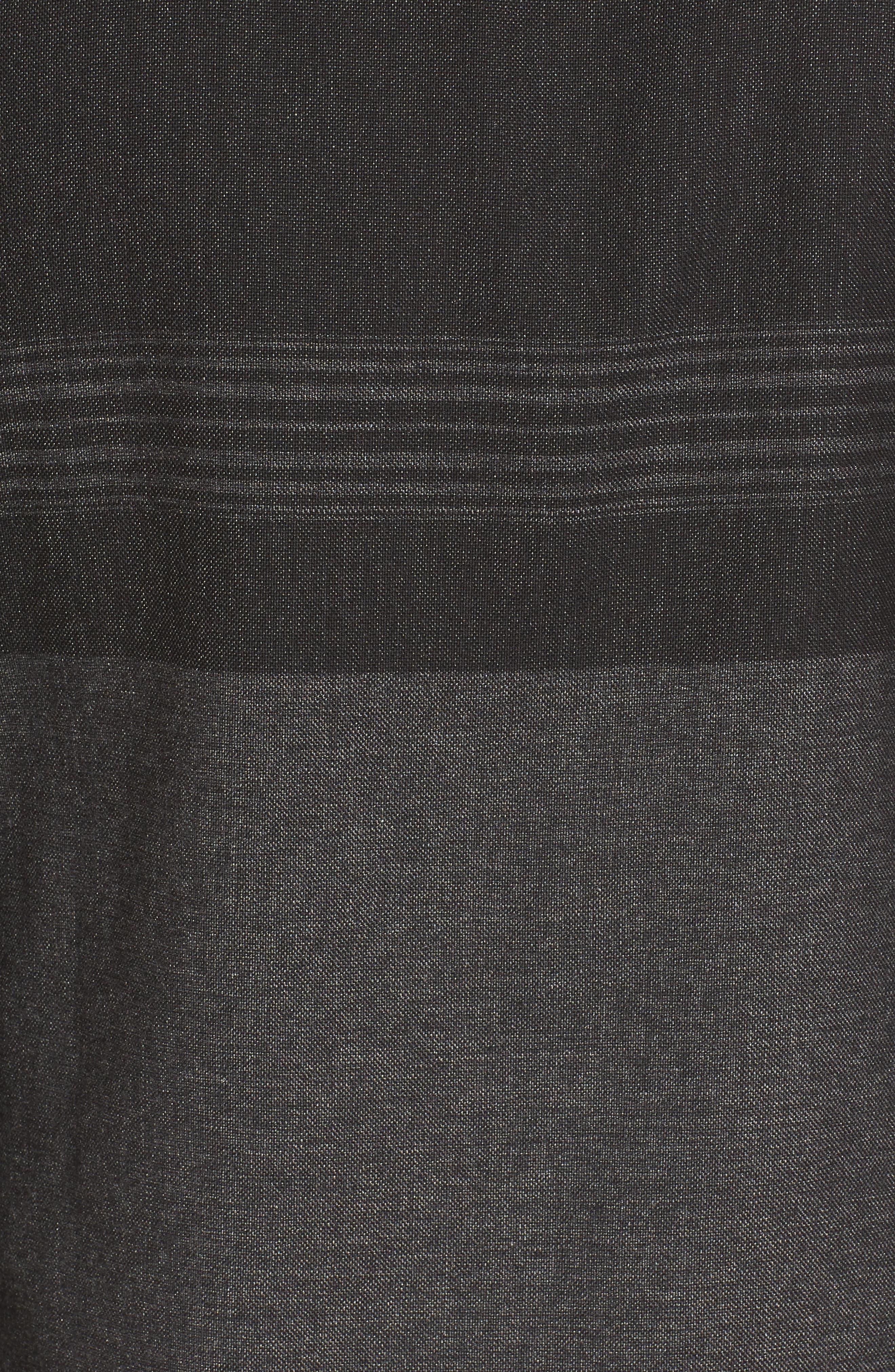 Jacinto Hooded Flannel Shirt,                             Alternate thumbnail 5, color,                             Black