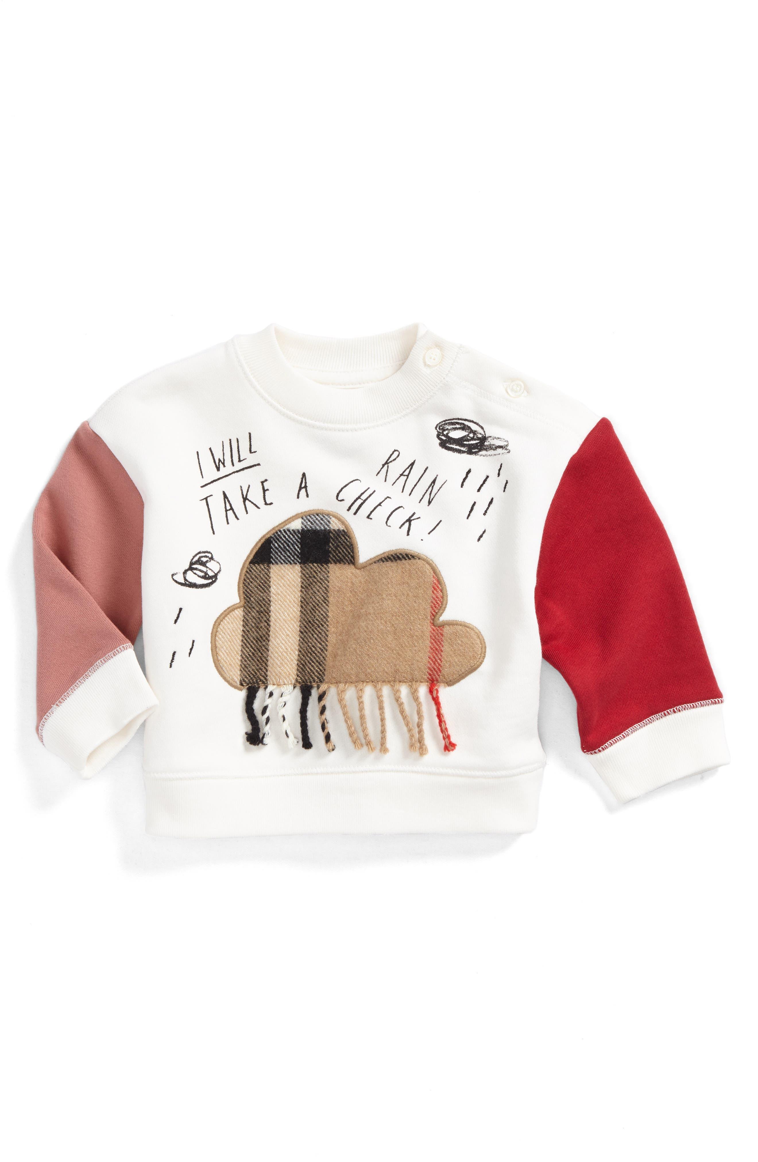 Burberry Rain Check Sweatshirt (Toddler Girls)